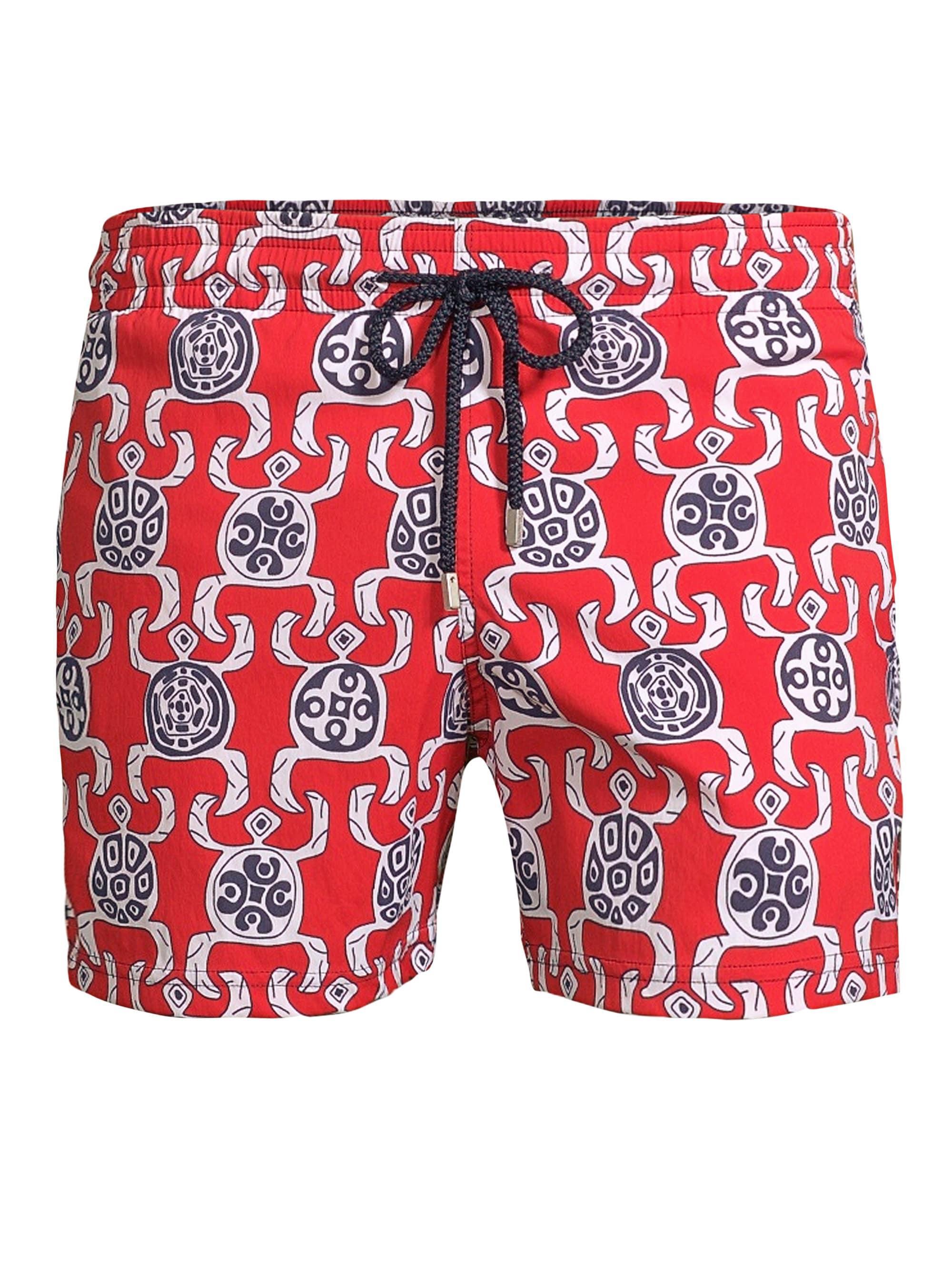 35f088d0da Vilebrequin Men's Primitive Turtle Print Swim Shorts - Poppy in Red ...