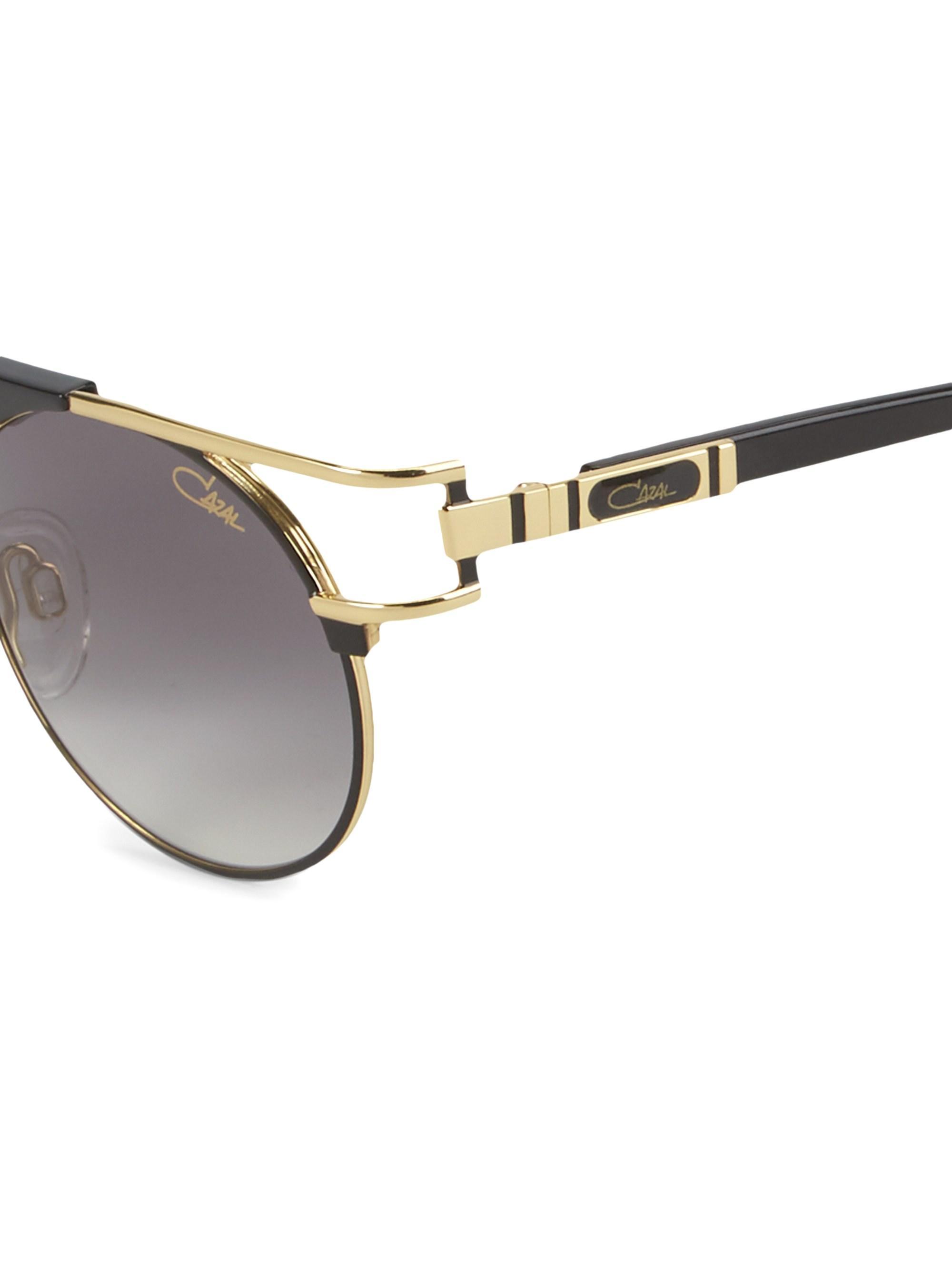 38c0901f660 Cazal Legend 50mm Round Aviator Sunglasses in Black for Men - Lyst