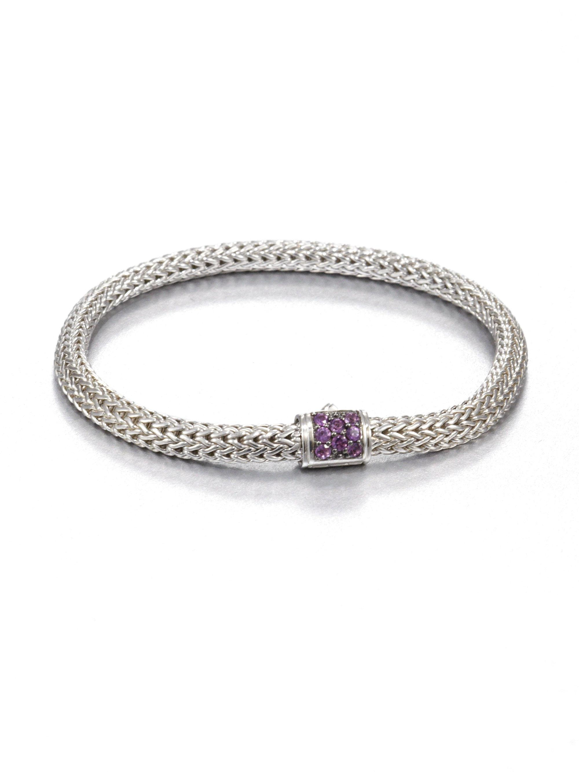natural amethyst pin stretch bangle crystal gemstone bangles wholesale bracelet banded