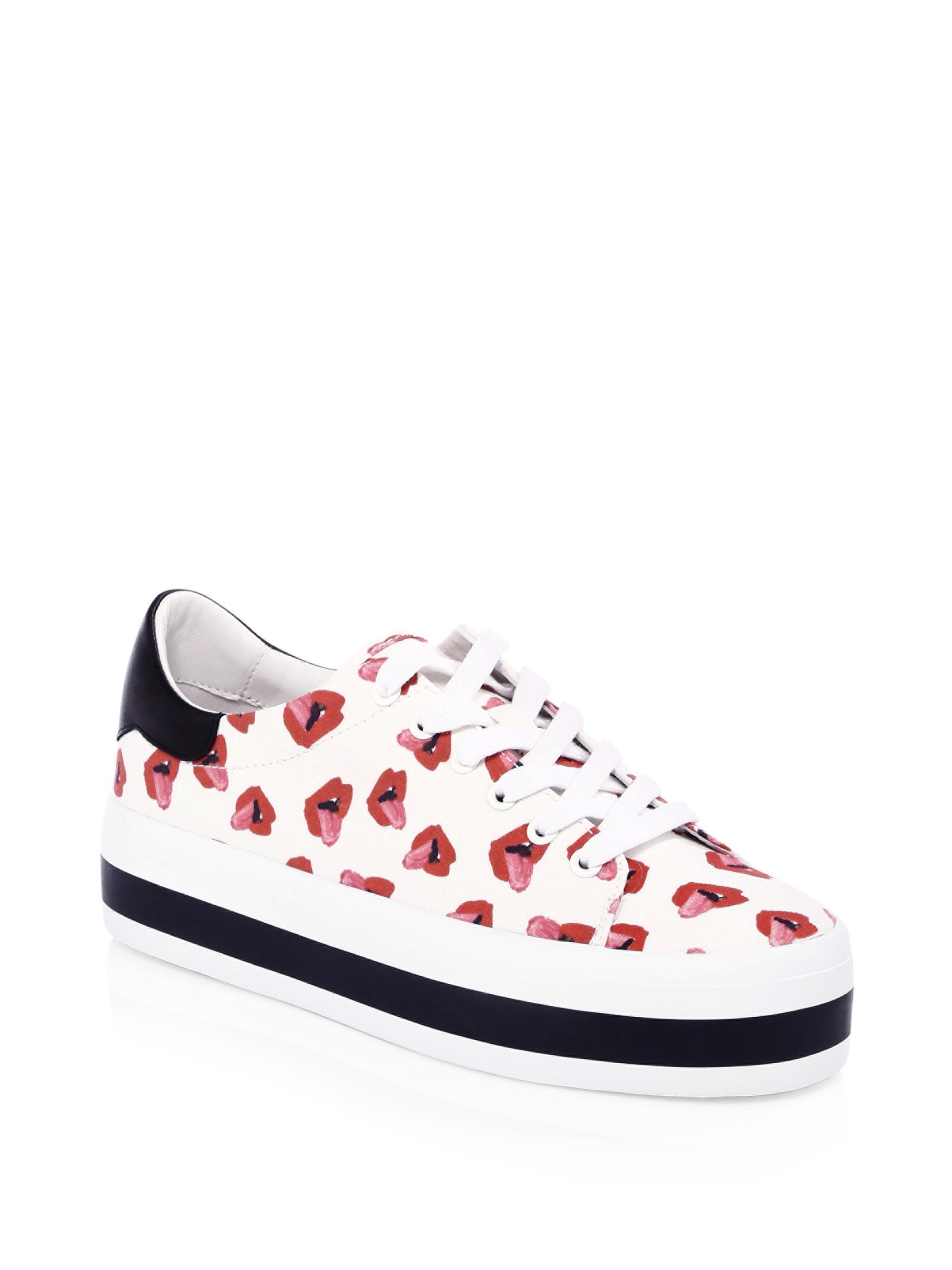 ALICE+OLIVIA Donald Robertson Collaboration Ezra Canvas Sneakers