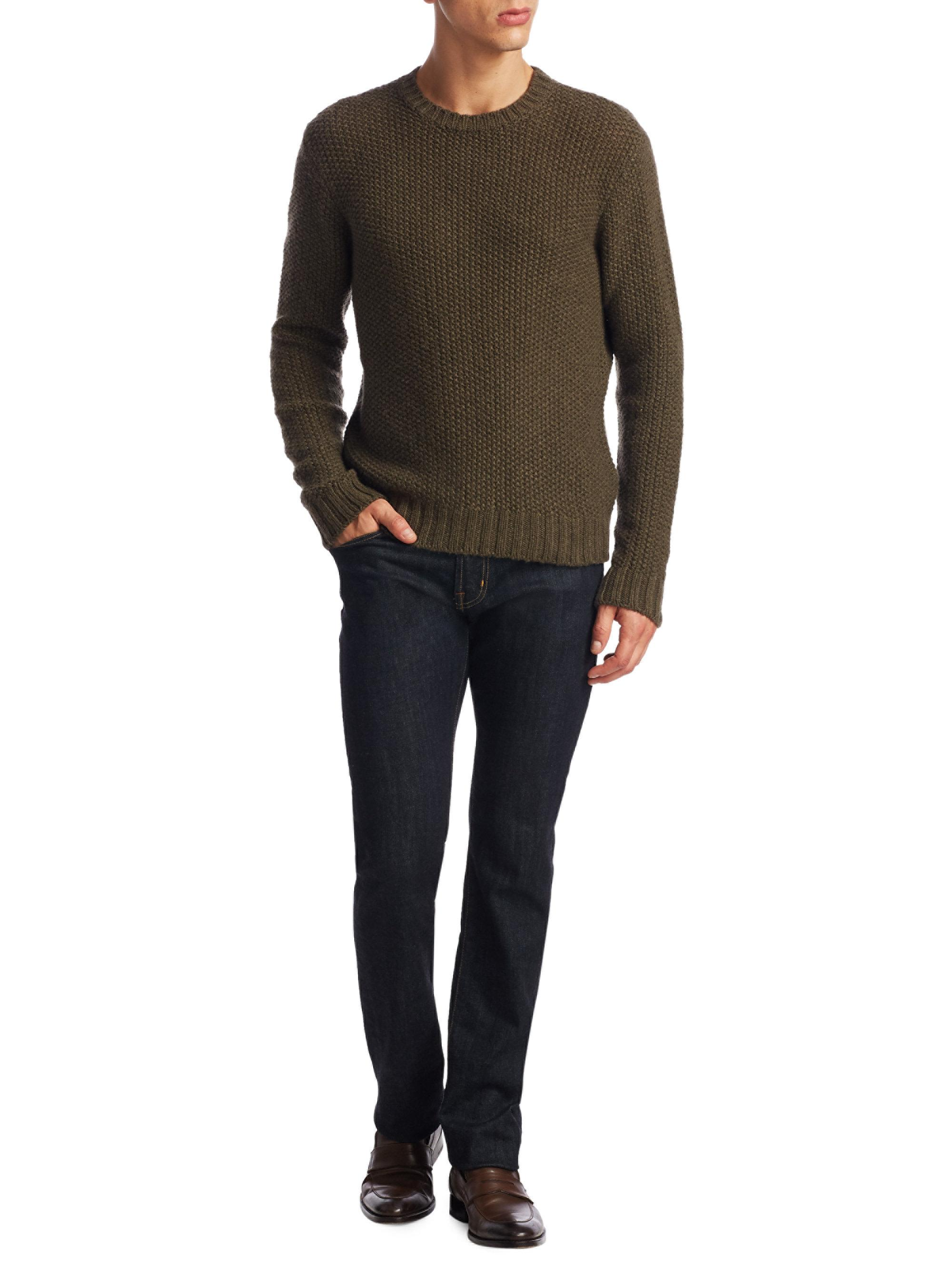 6386dfb73 ... men f868c 63f22  italy lyst ralph lauren purple label cash seed  cashmere sweater in green ff4c6 2d947