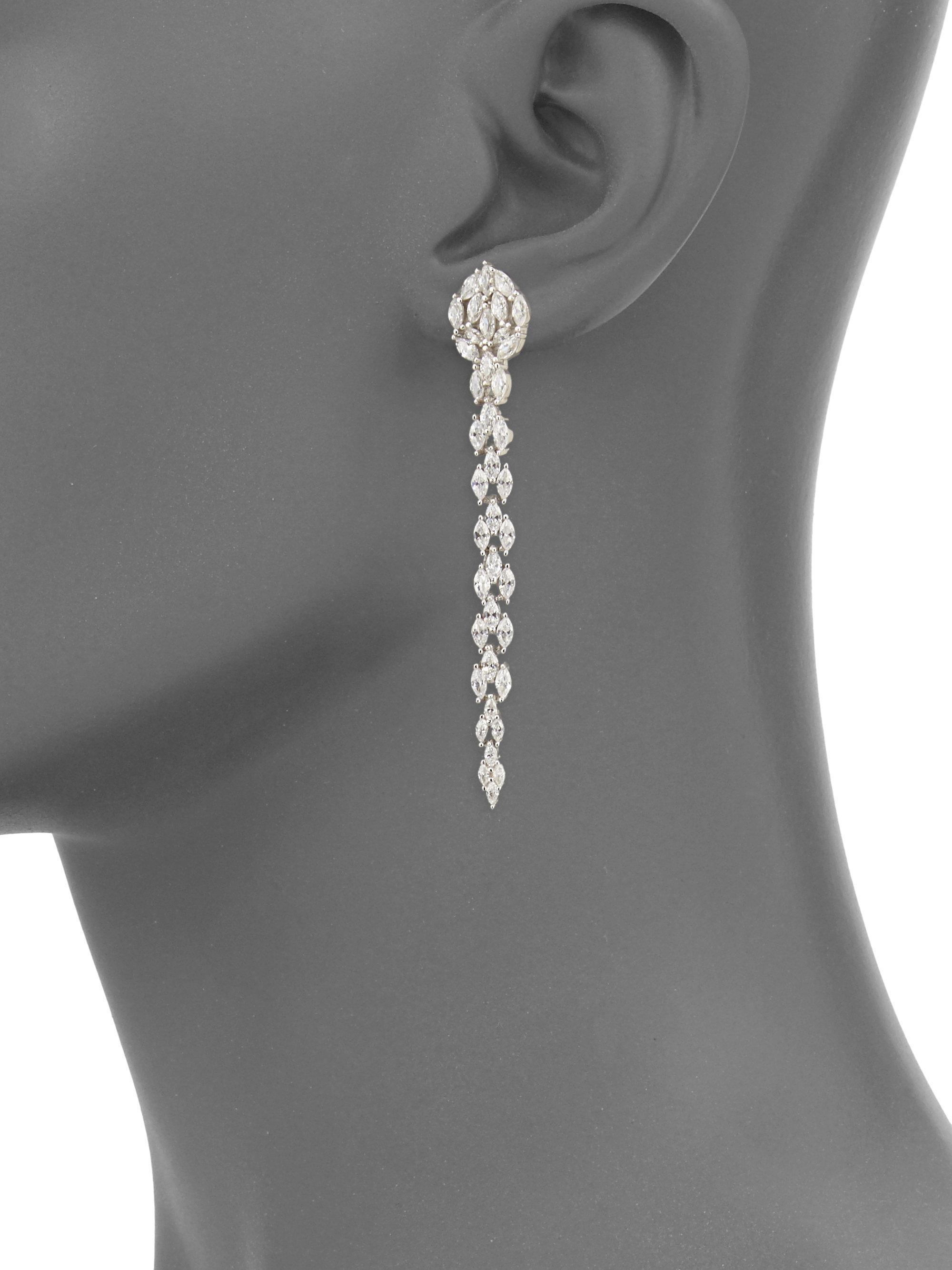 Fallon Monarch Marquis Fishtail Earrings T3v3y4D
