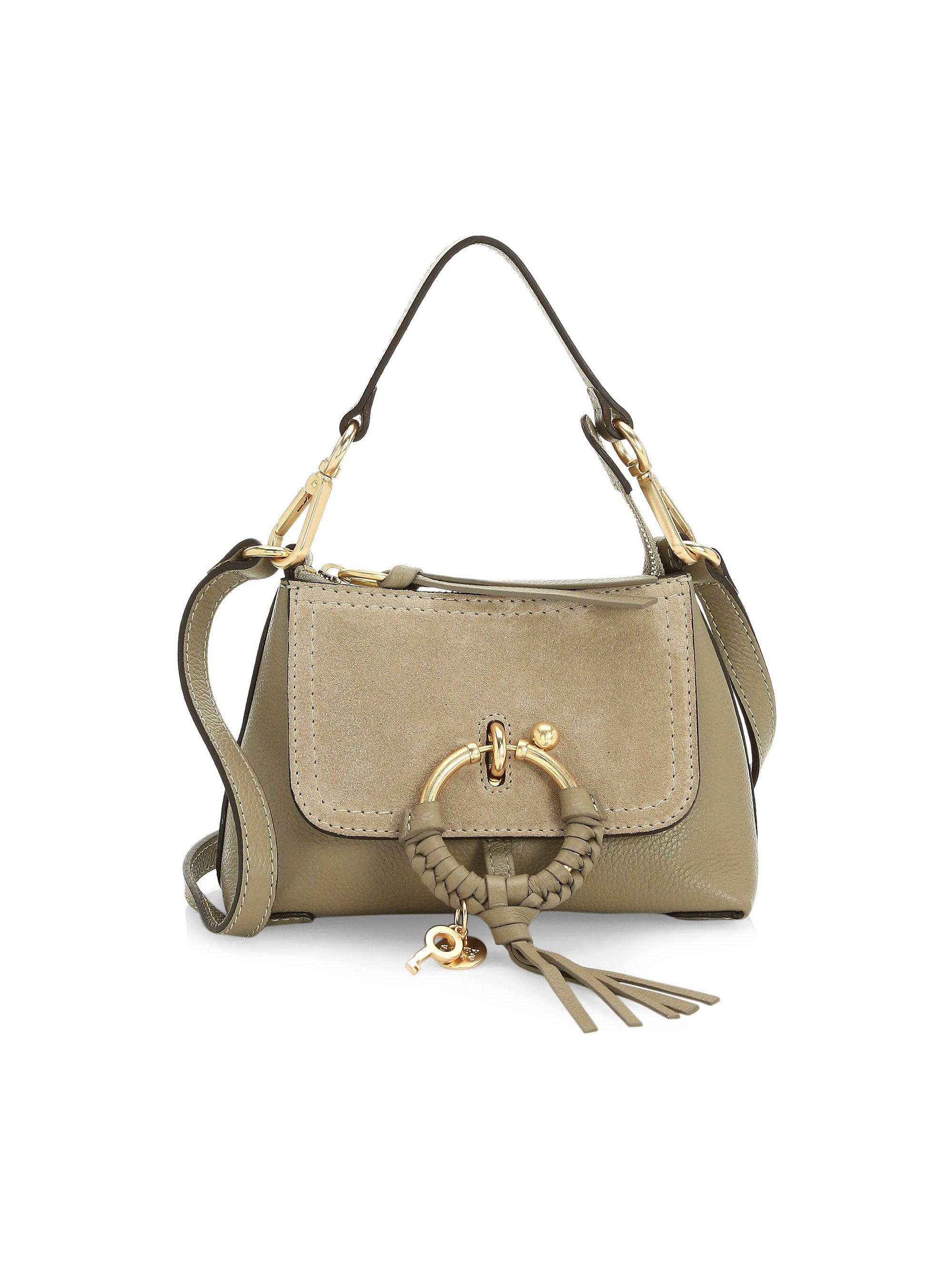 946790c4eb Lyst - See By Chloé Women s Mini Joan Suede   Pebbled Leather Hobo ...