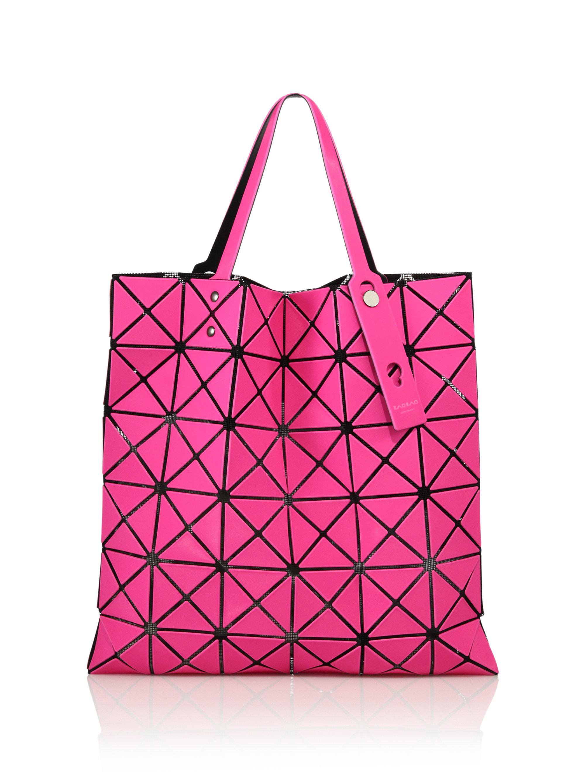 ef29c46ac2 Lyst - Bao Bao Issey Miyake Lucent Geometric Faux Leather Tote in Pink