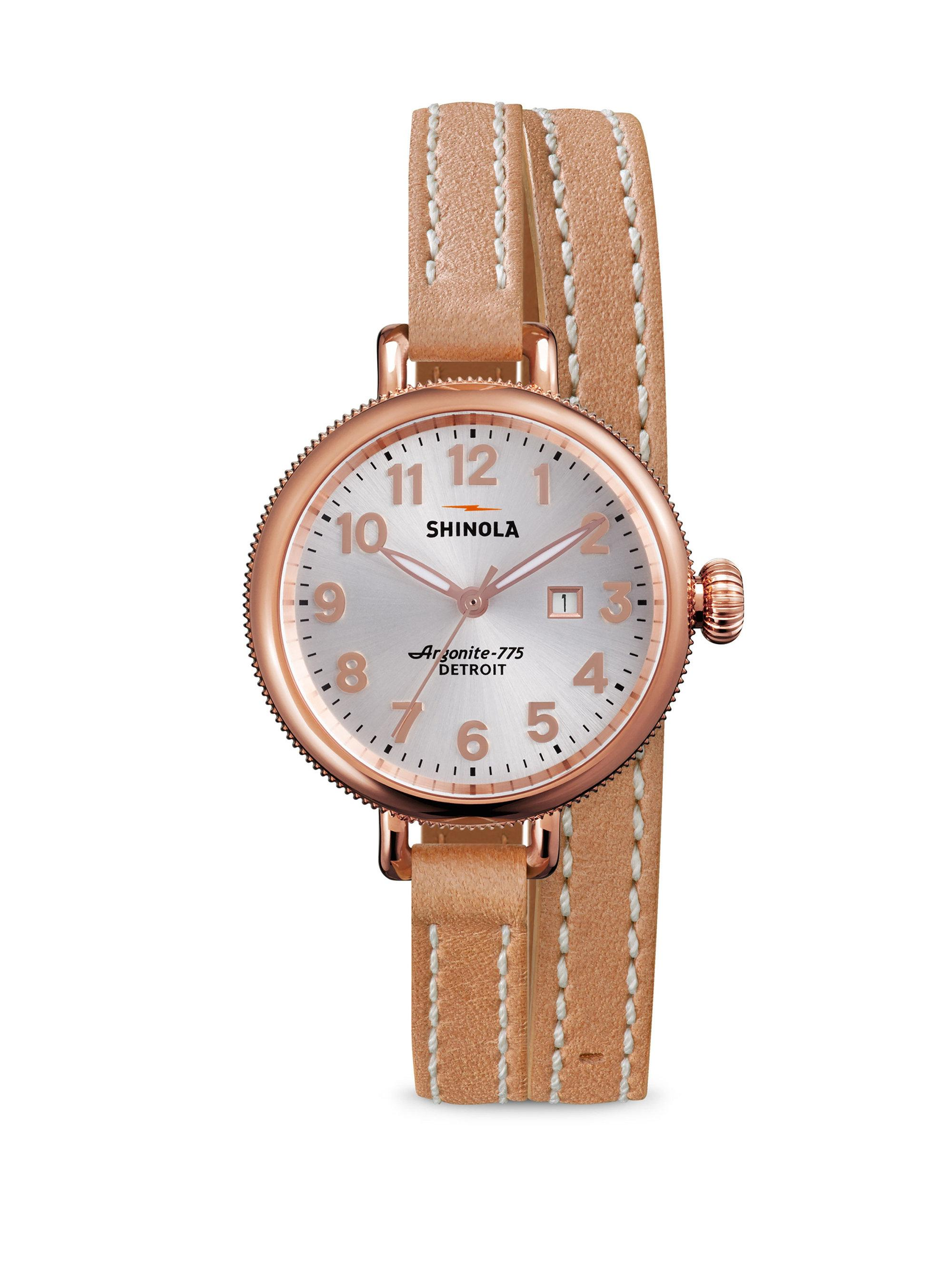 1c2f411a9b8 Lyst - Shinola Birdy Rose Goldtone Pvd Stainless Steel   Leather ...