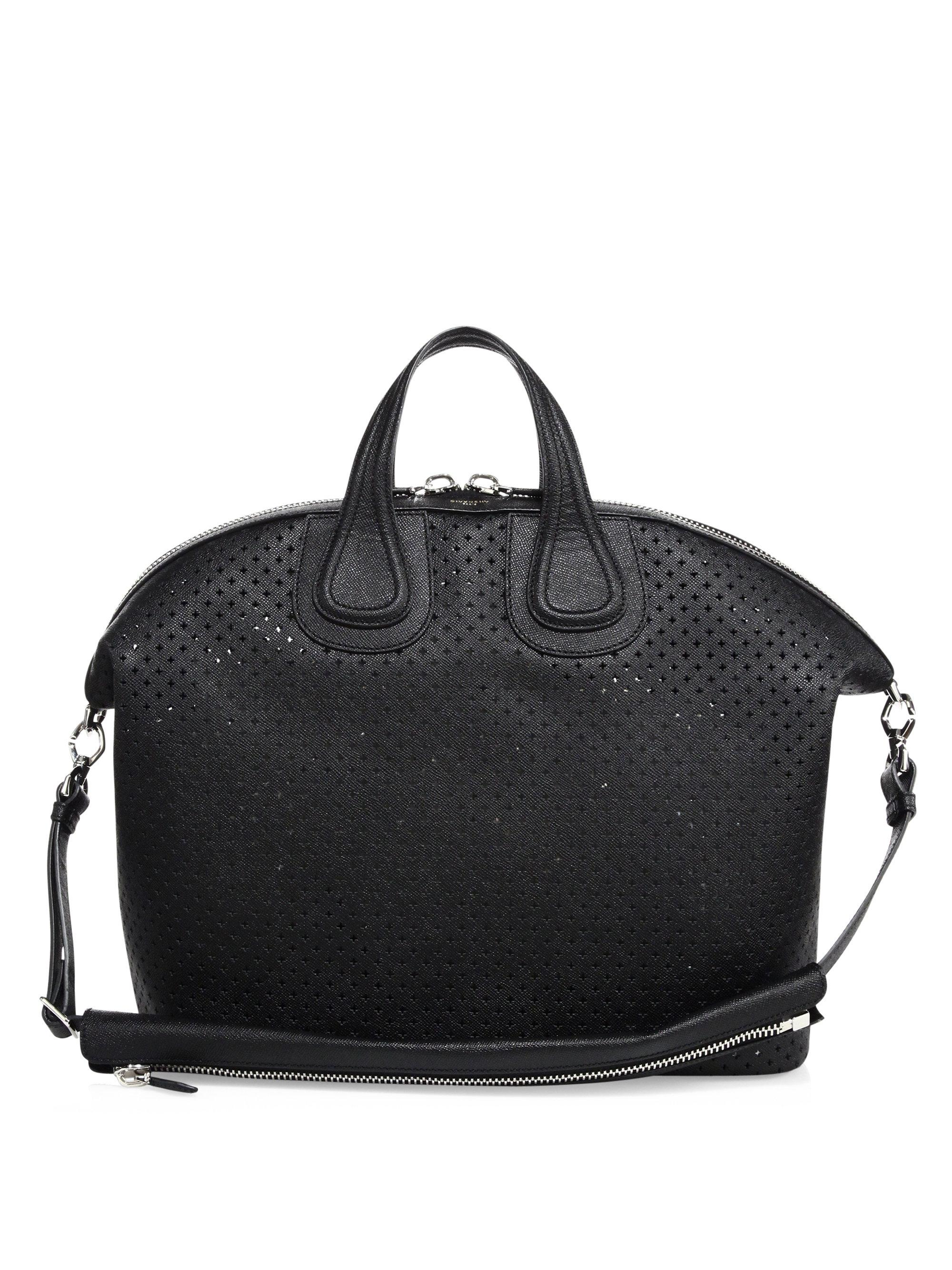Lyst - Givenchy Nightingale Perforated Leather Bag in Black for Men 1170d2f0bb9b9