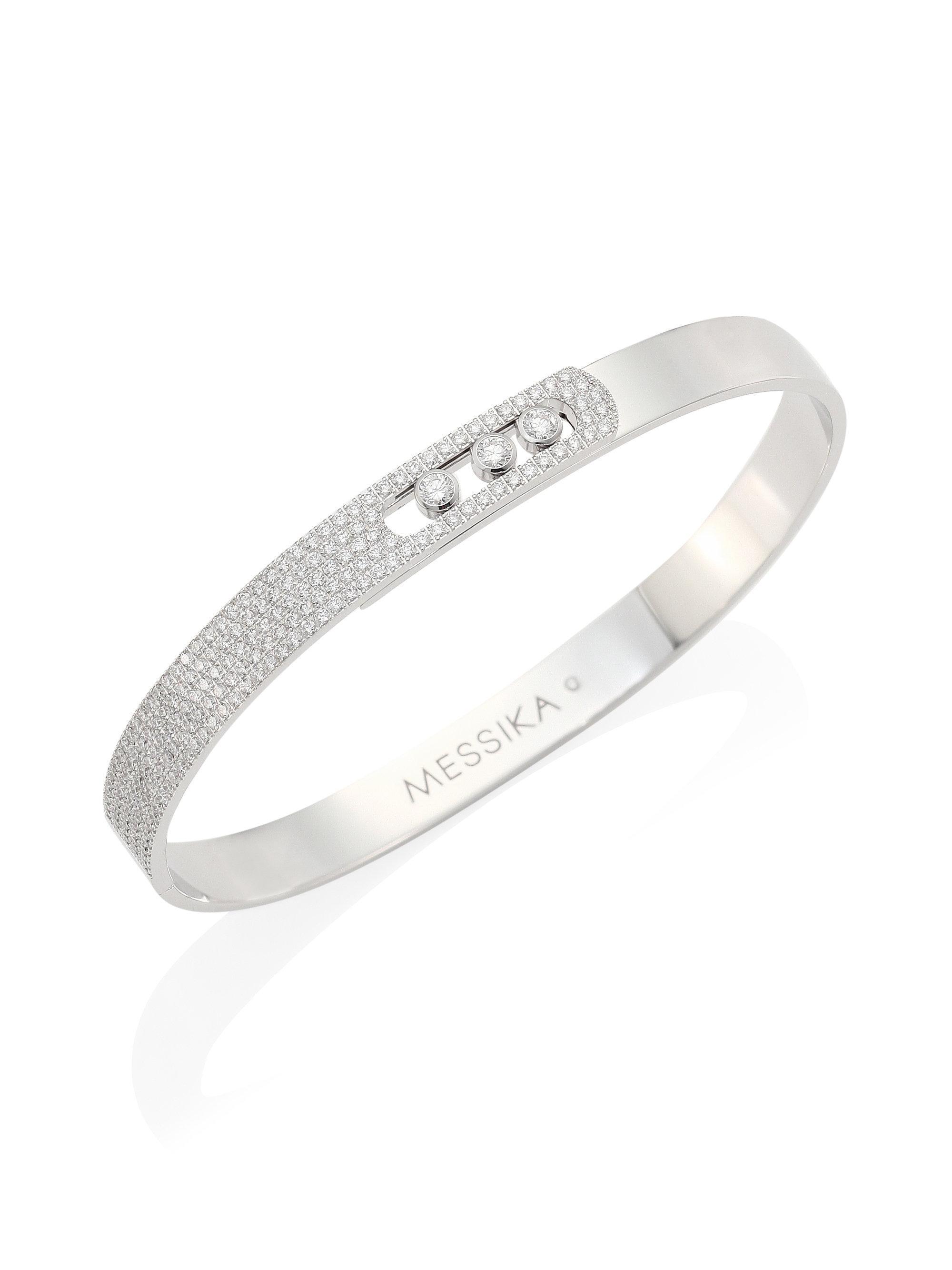 Baby Move 18-karat White Gold Diamond Bracelet - one size Messika lFiPZSW