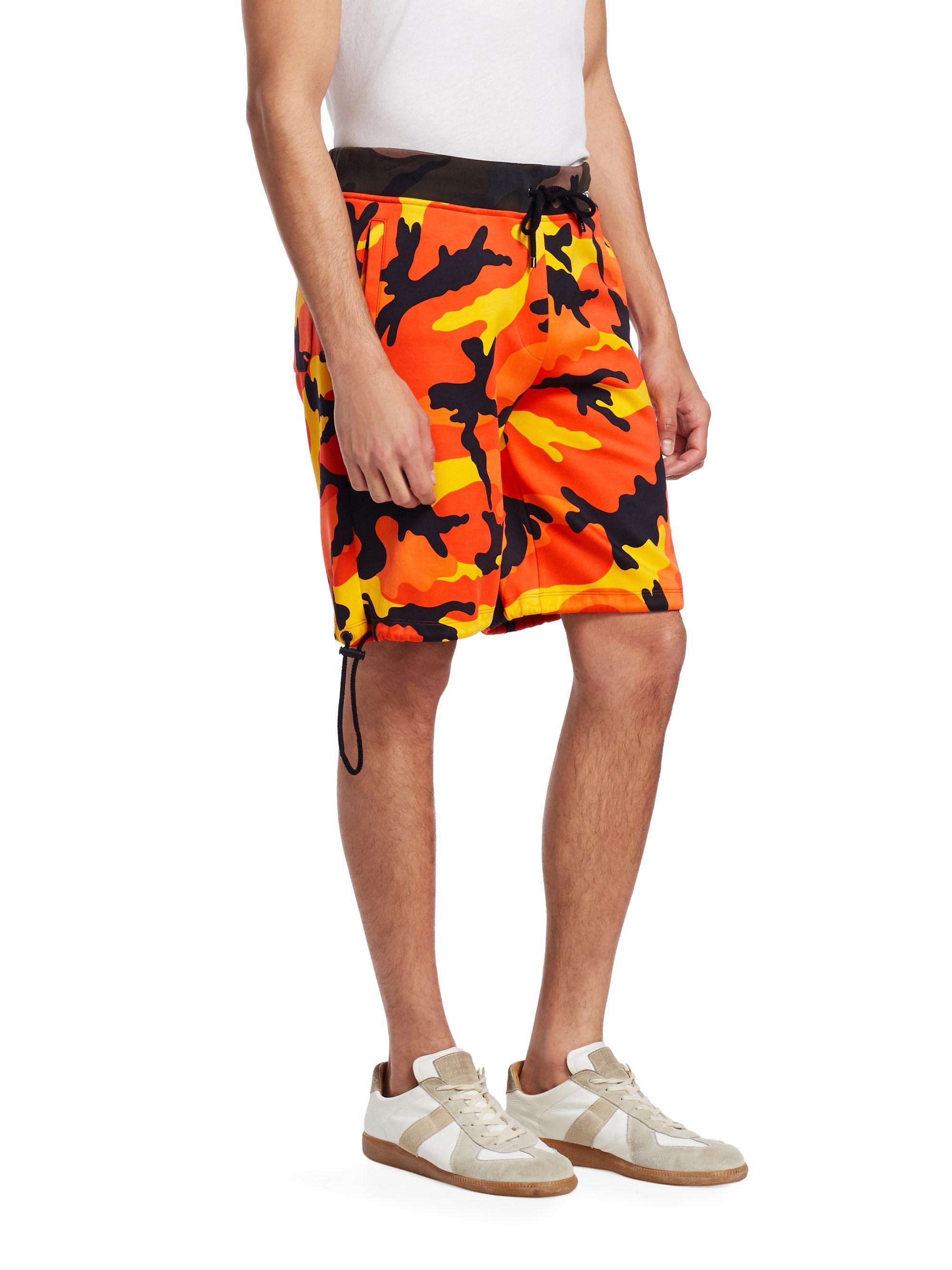 Lyst - Valentino Men s Camouflage Classic Shorts - Orange Camo ... 12bc4cafd6b