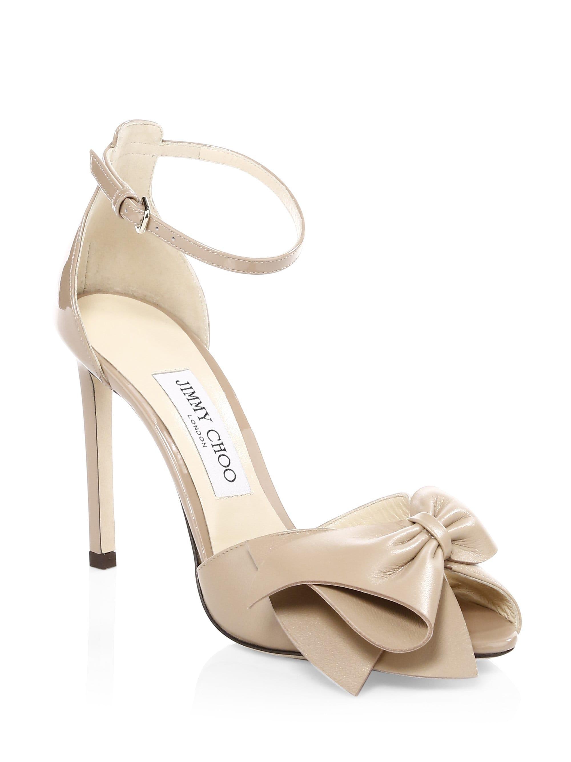 314709e0c05 Lyst - Jimmy Choo Women s Karlotta Peep Toe Heels - Black - Size 37 (7)