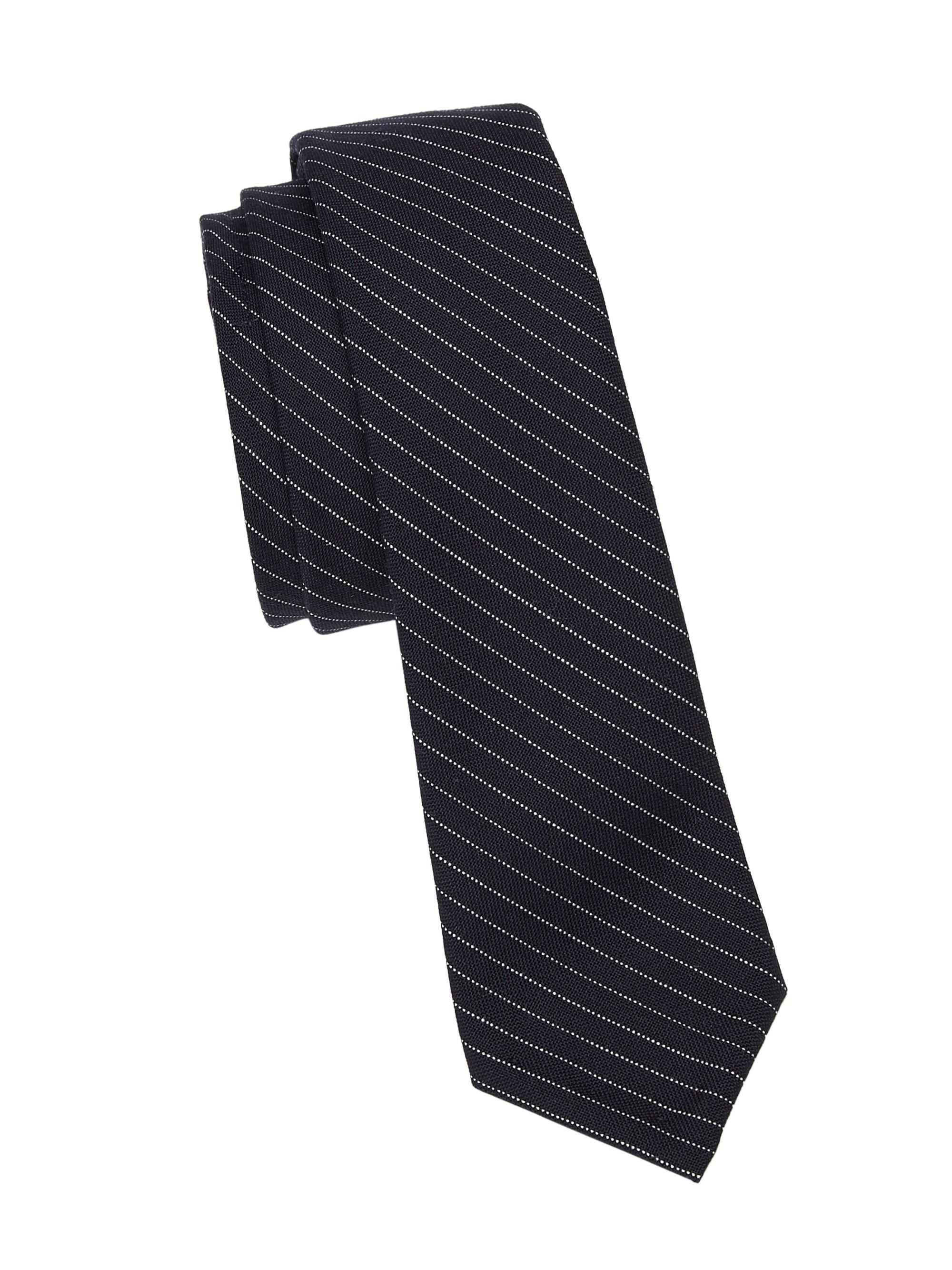 ff4bf2d9b539 Thom Browne Men s Classic Pinstripe Wool Tie - Navy in Blue for Men ...