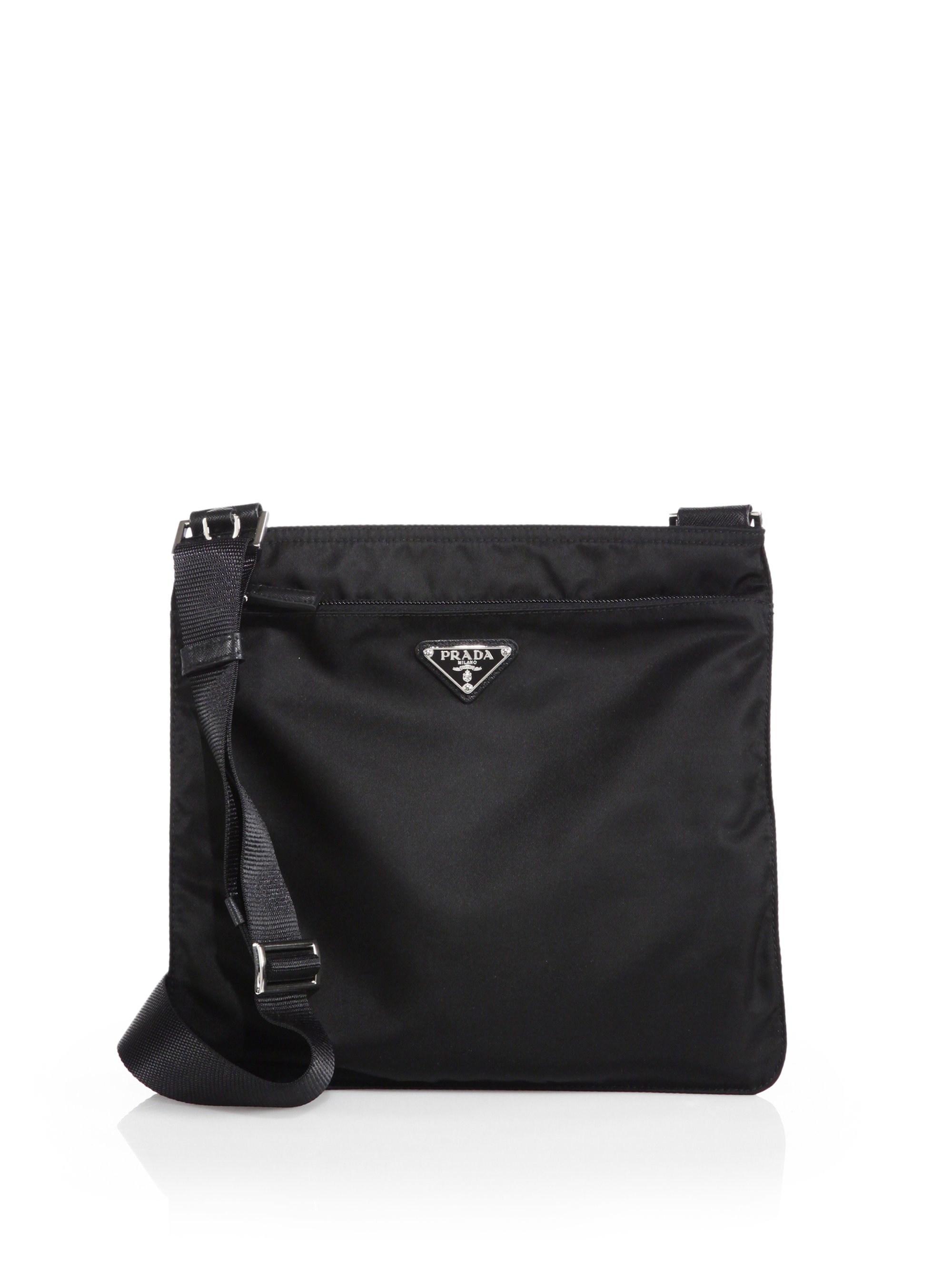 Prada - Black Vela Nylon Bag - Lyst. View fullscreen d0b01c76ed