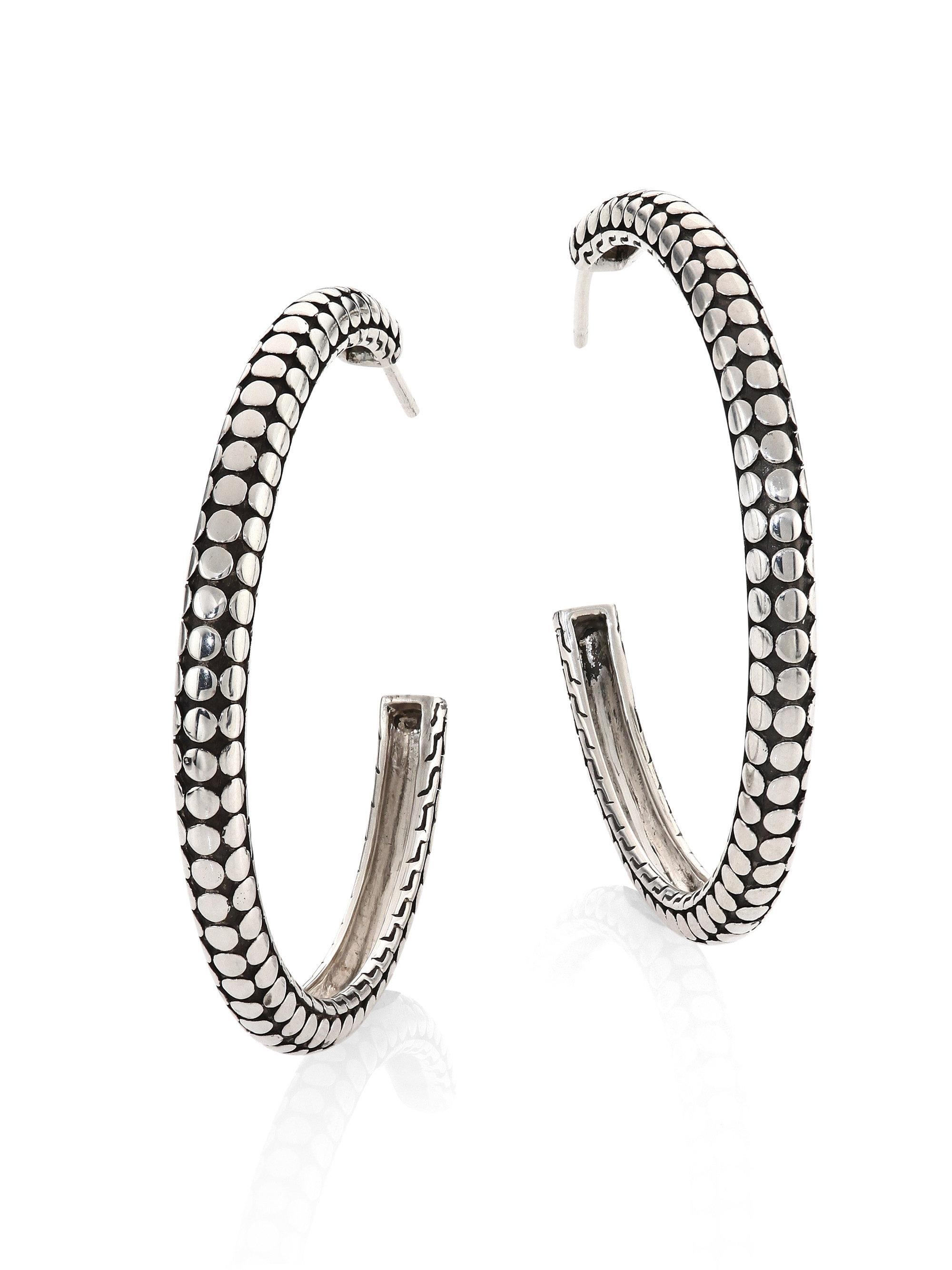 John Hardy Dot Medium Hoop Earrings xnmgZkXmq