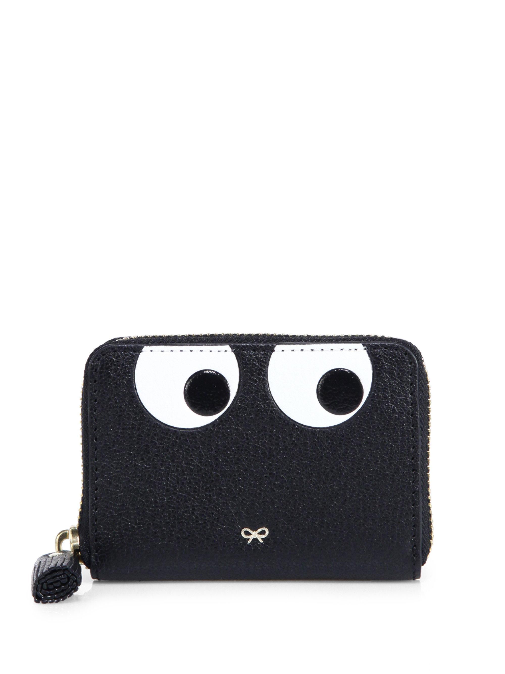 Black Large Eyes Zip Around Wallet Anya Hindmarch 8ELRbLrjy