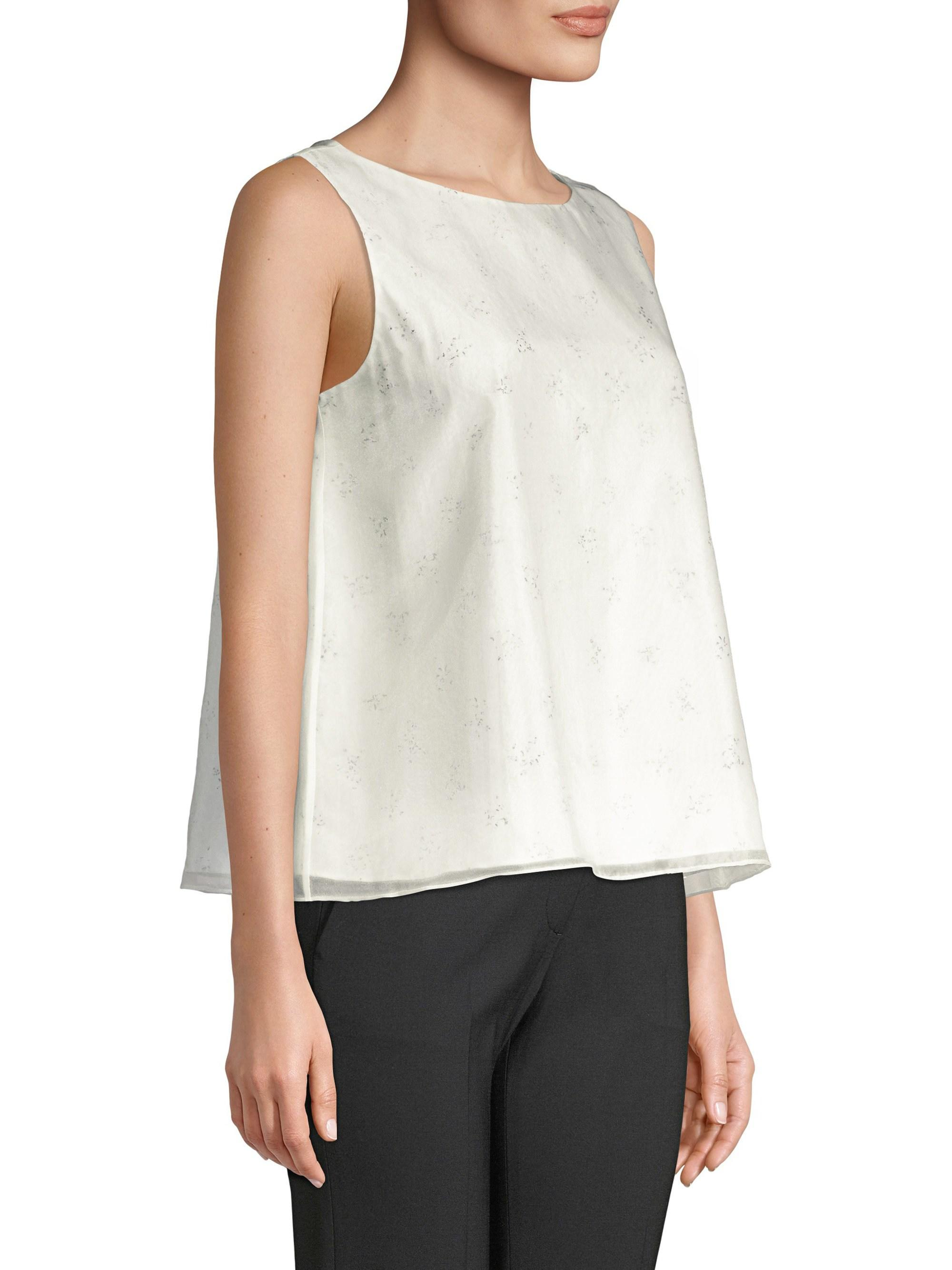 58b8d91408c24 Theory Embellished A-line Sleeveless Top in White - Lyst