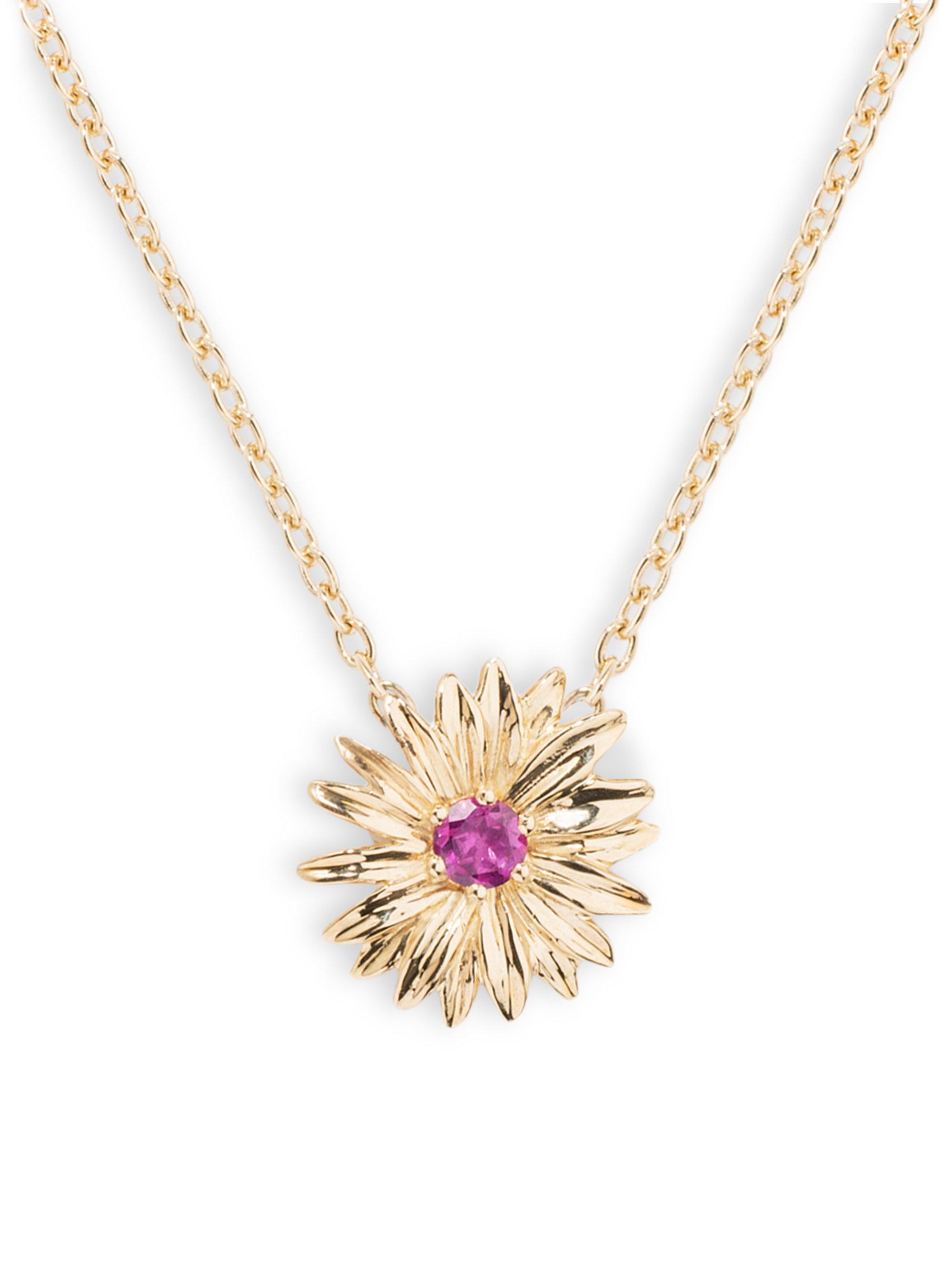 18kt gold & diamond pendant necklace Aur CXNs6Ylo