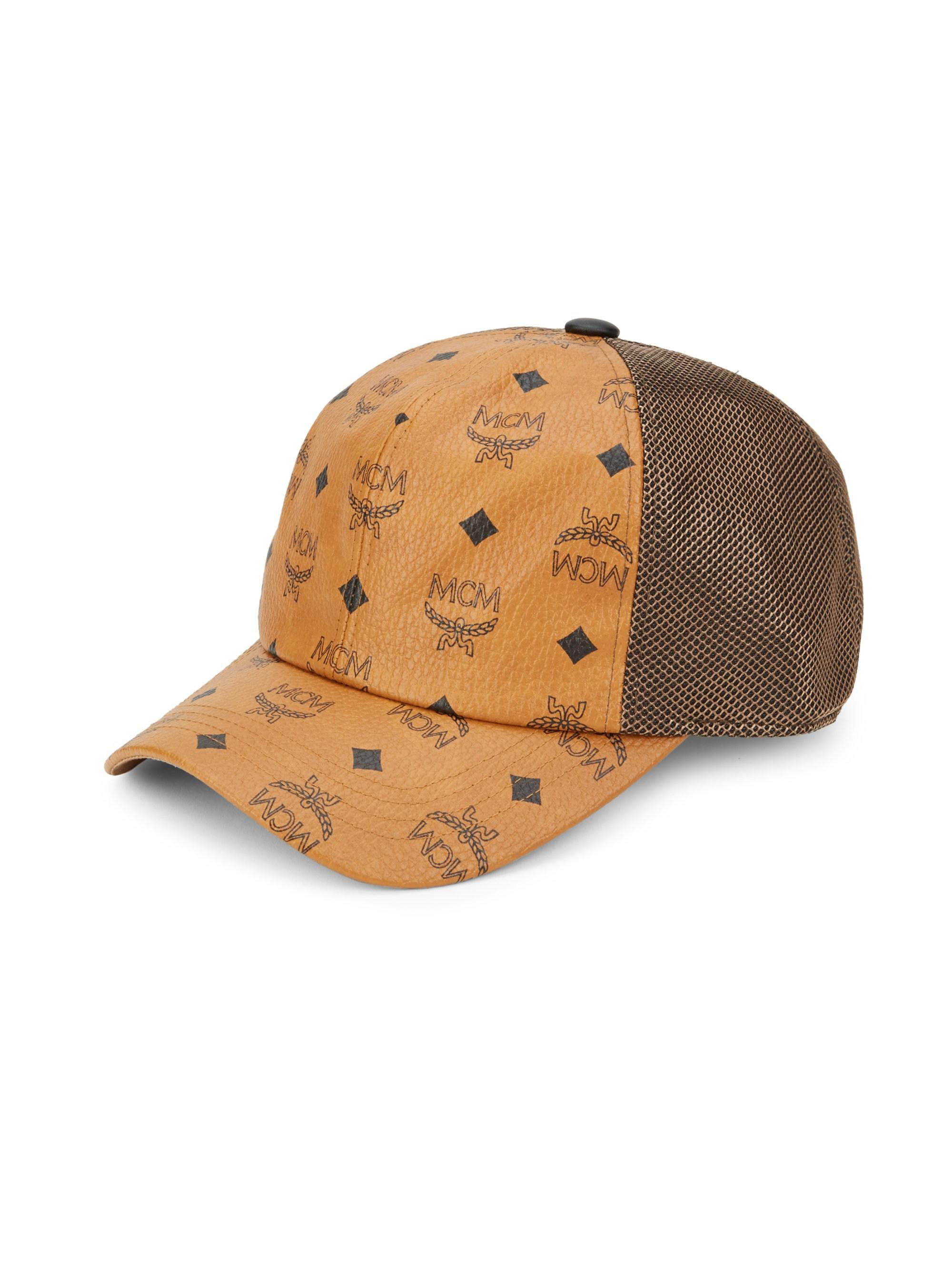 MCM - Brown Classic Mesh Cap In Visetos - Lyst. View fullscreen 9d749413955d