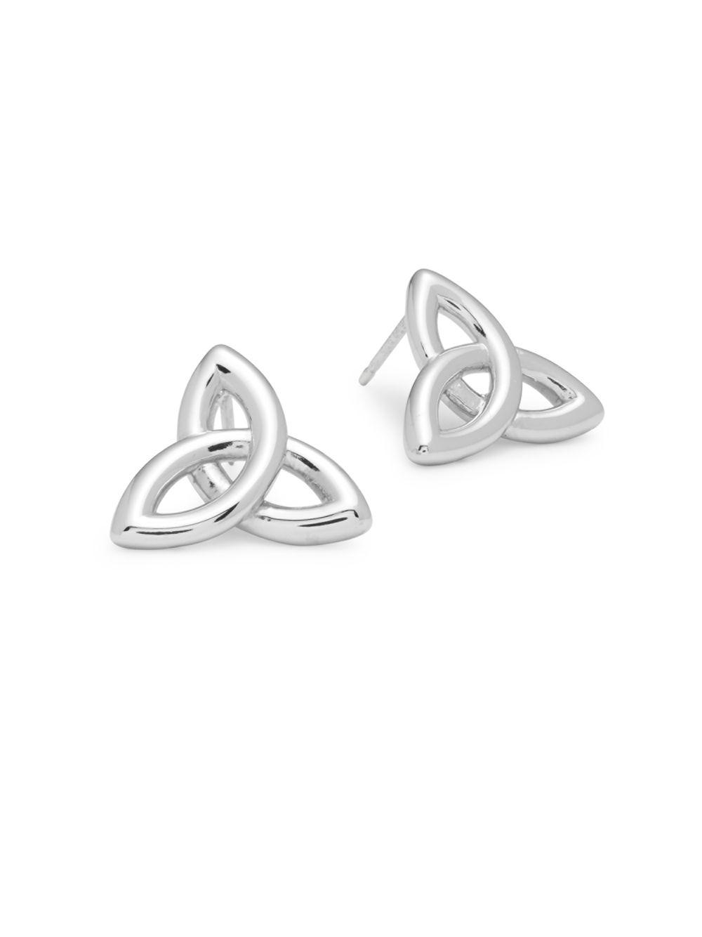 Saks Fifth Avenue Women S Metallic Sterling Silver Celtic Infinite Earrings