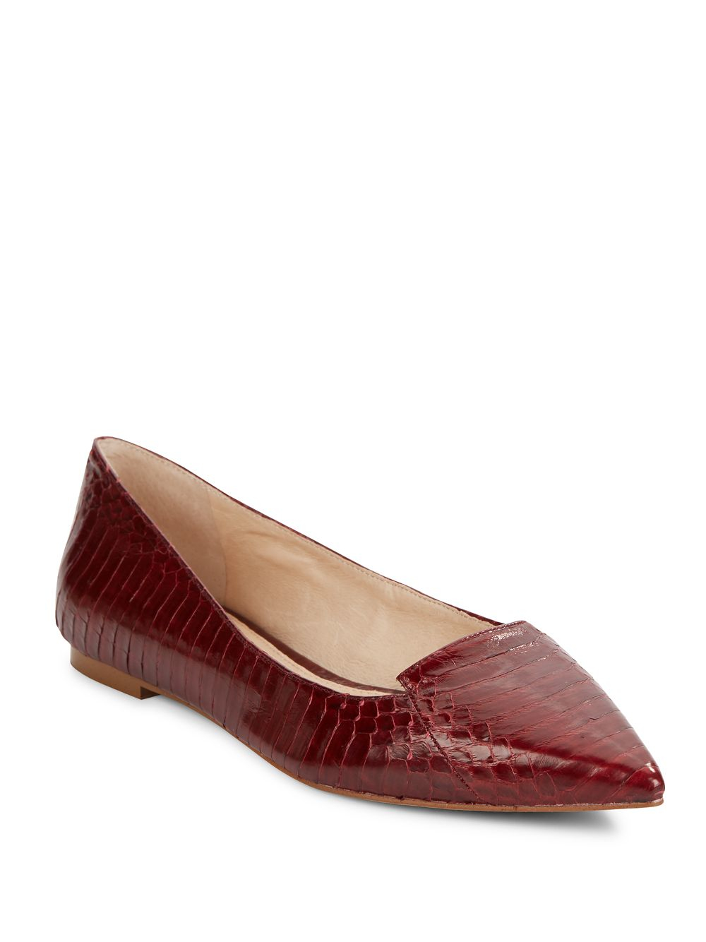 Lyst Vince Camuto Empa Snakeskin Embossed Leather Flats