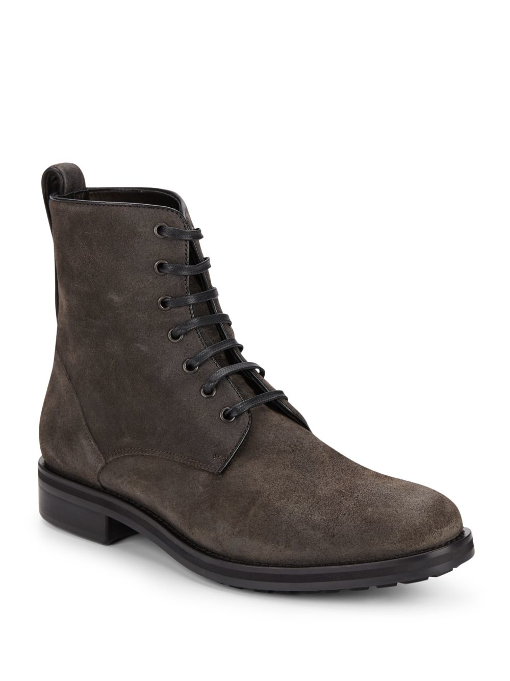 Vince Carter Suede Combat Boots in Brown for Men | Lyst