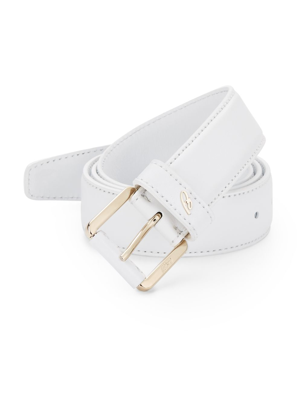 Lyst Brioni Leather Belt In White For Men