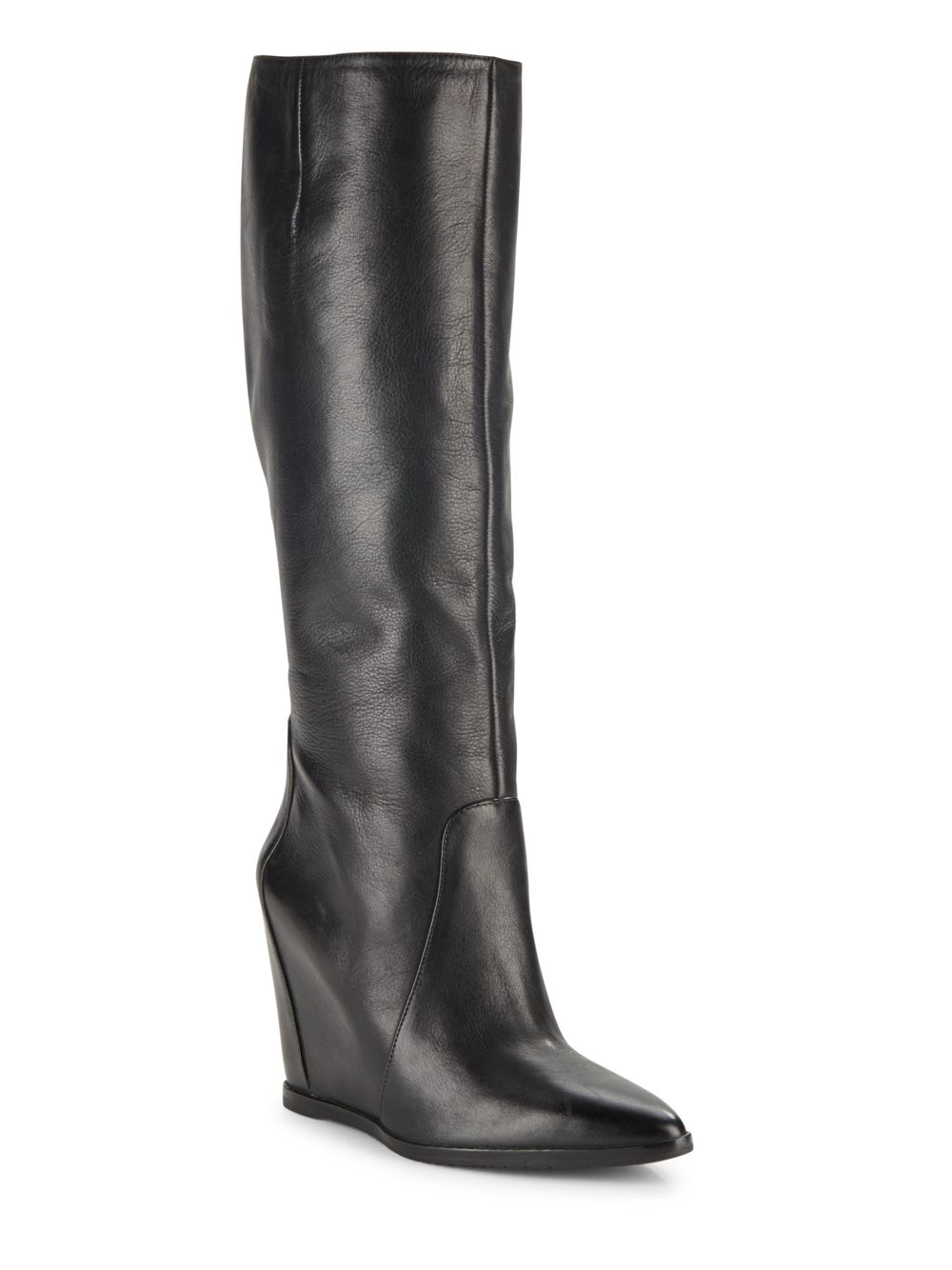kenneth cole statton leather point toe wedge boots in