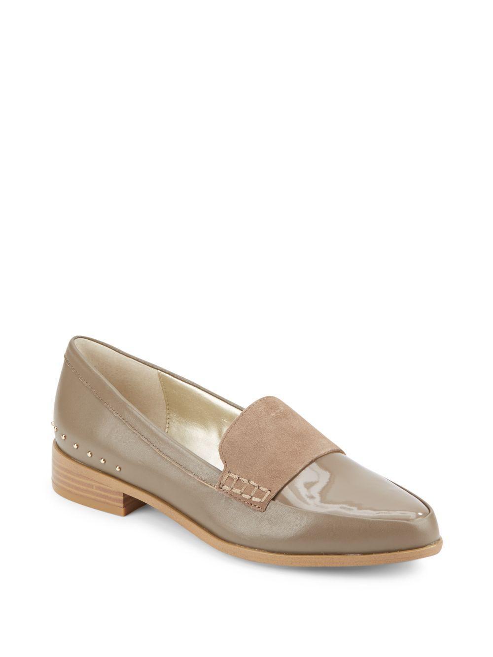 saks fifth avenue lorenna almond toe loafers lyst