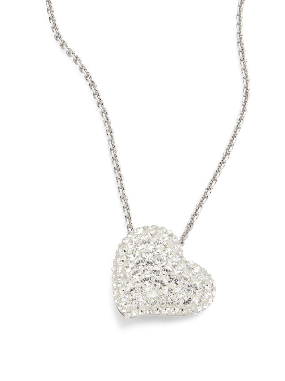 swarovski alana crystal heart pendant necklace in metallic. Black Bedroom Furniture Sets. Home Design Ideas