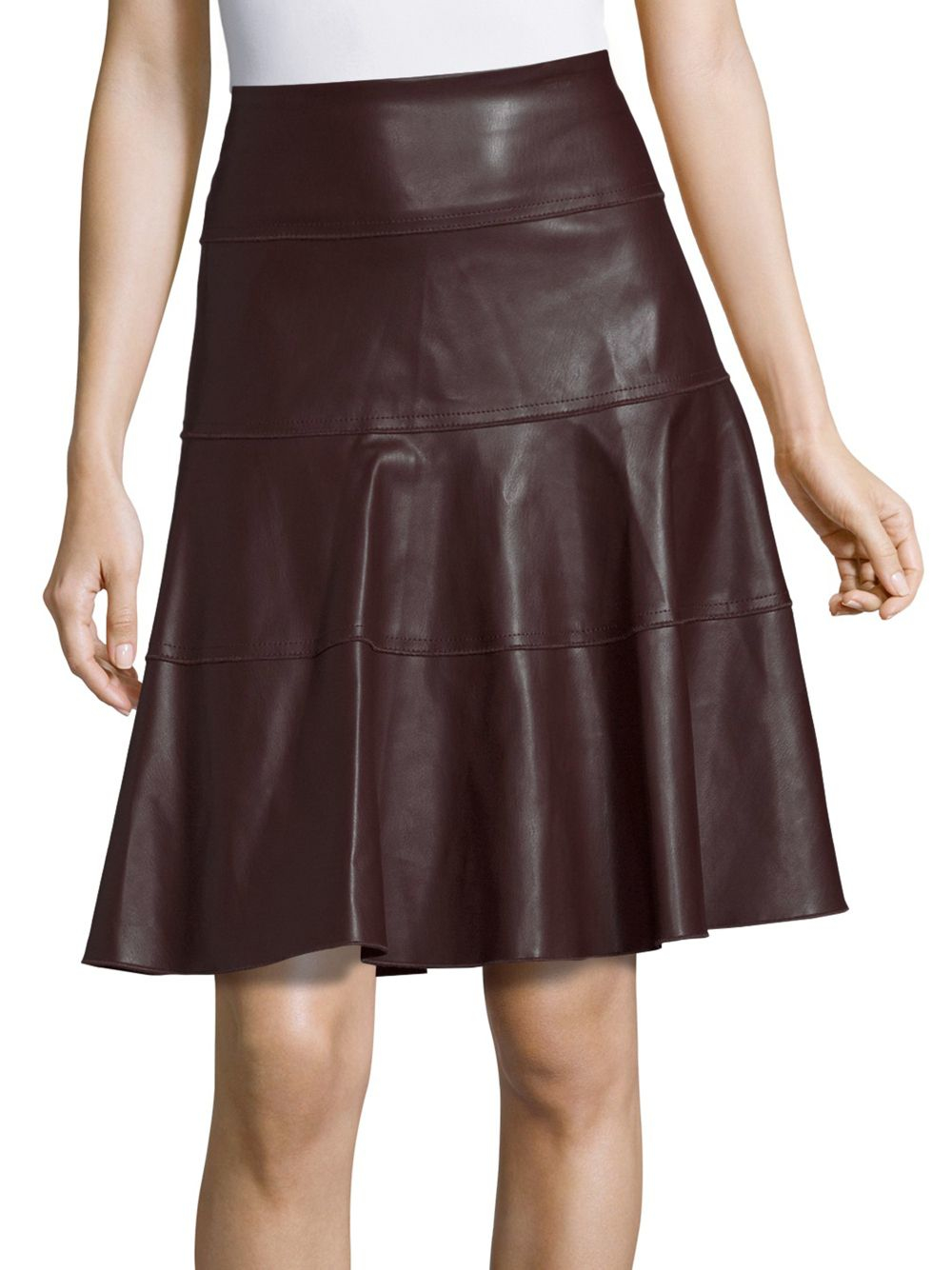 Bagatelle Solid Fit-&-flare Skirt