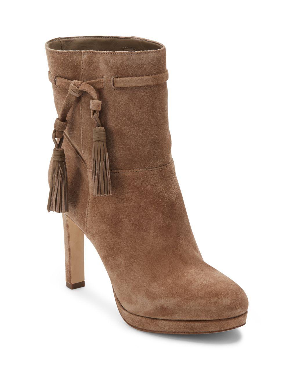 via spiga almond toe ankle boots lyst