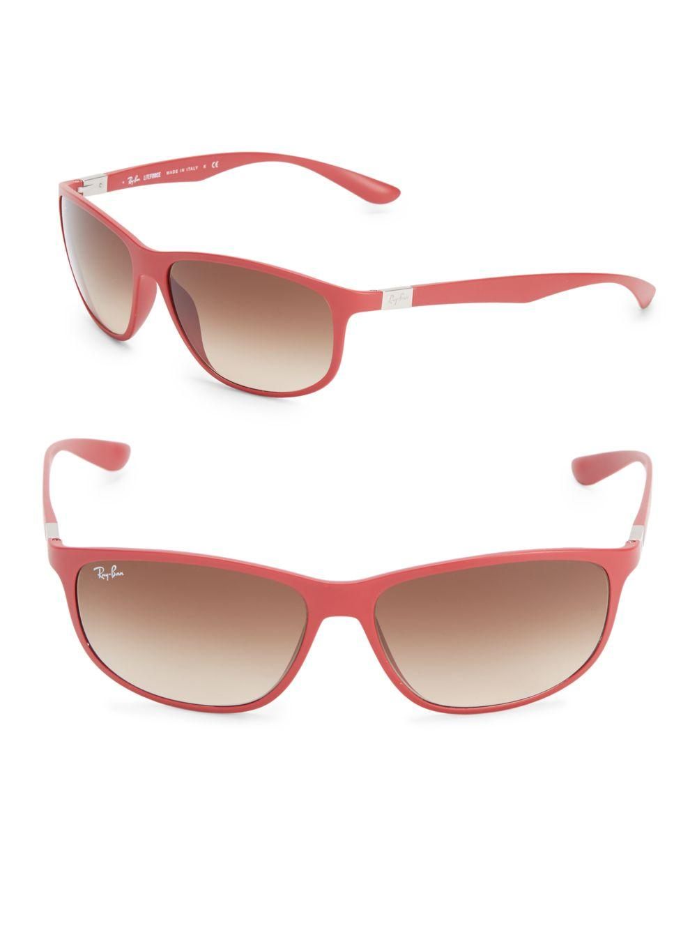 c42ea873808 Lyst - Ray-Ban Liteforce Logo-temple Sunglasses in Red