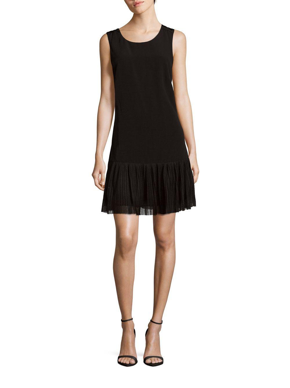 5d76c963148f2 Lyst - Sandro Replay Solid Scoopneck Dress in Black