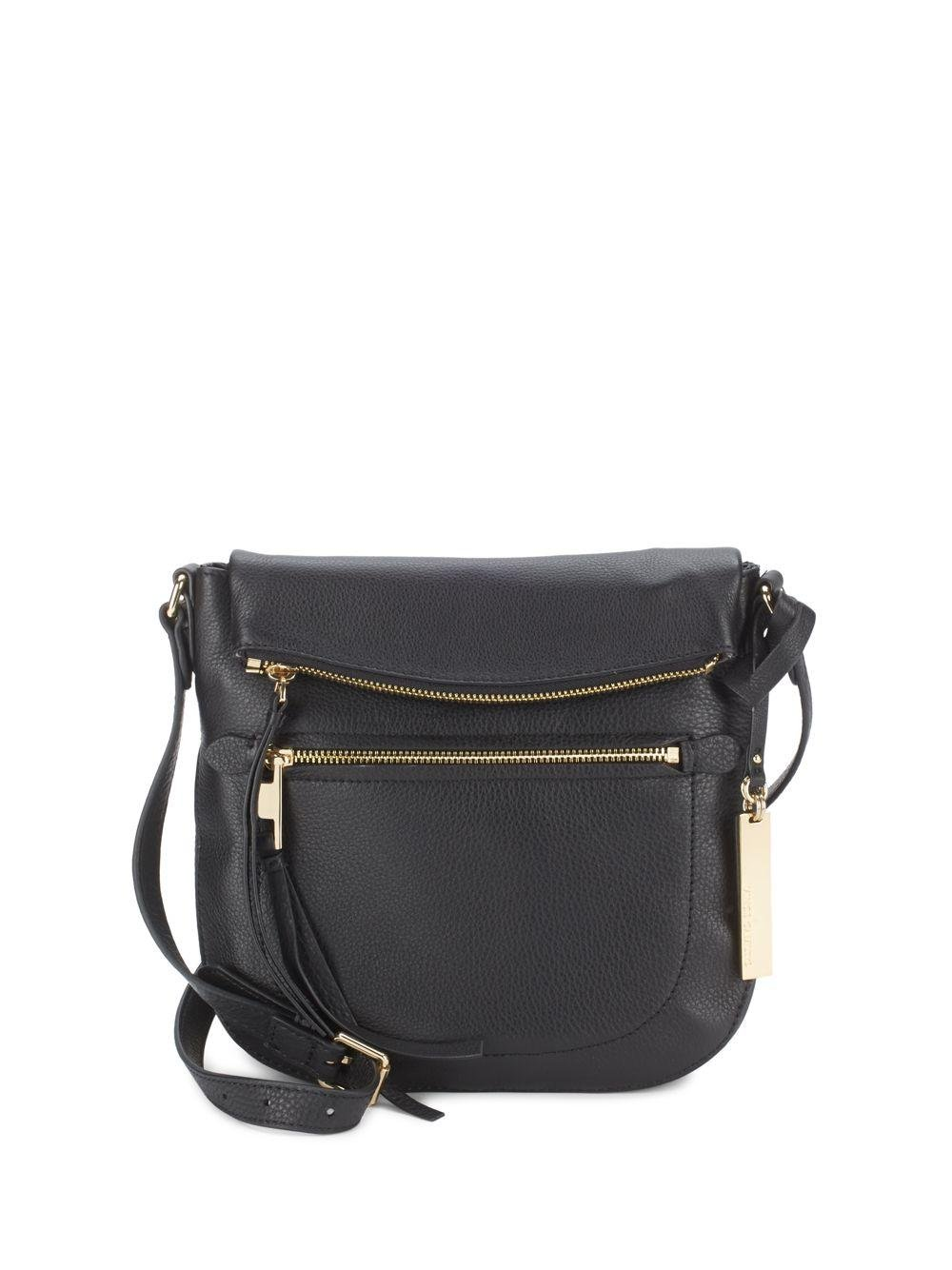 Vince camuto Leather Crossbody Bag in Black | Lyst