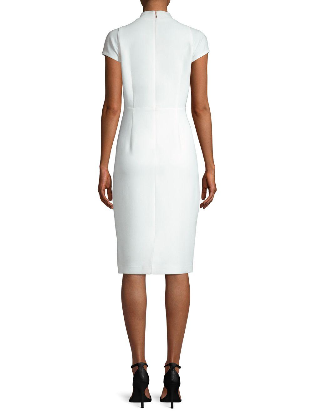 078e5007 Elie Tahari Gerarda Crepe Sheath Dress in White - Save 68% - Lyst