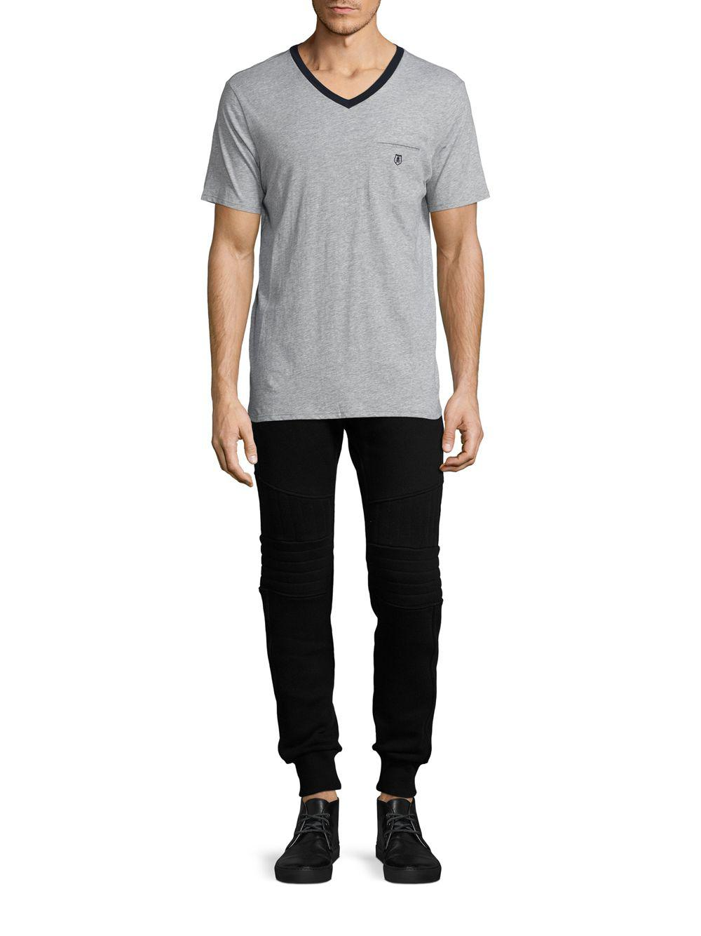 db63a65a9d8 Lyst - The Kooples Sport Short Sleeve V-neck T Shirt in Gray for Men