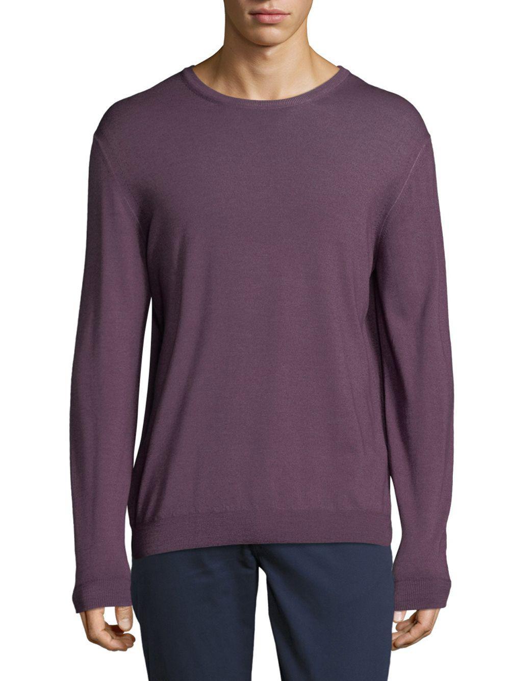 Pal zileri Merino Wool Sweater in Purple for Men | Lyst