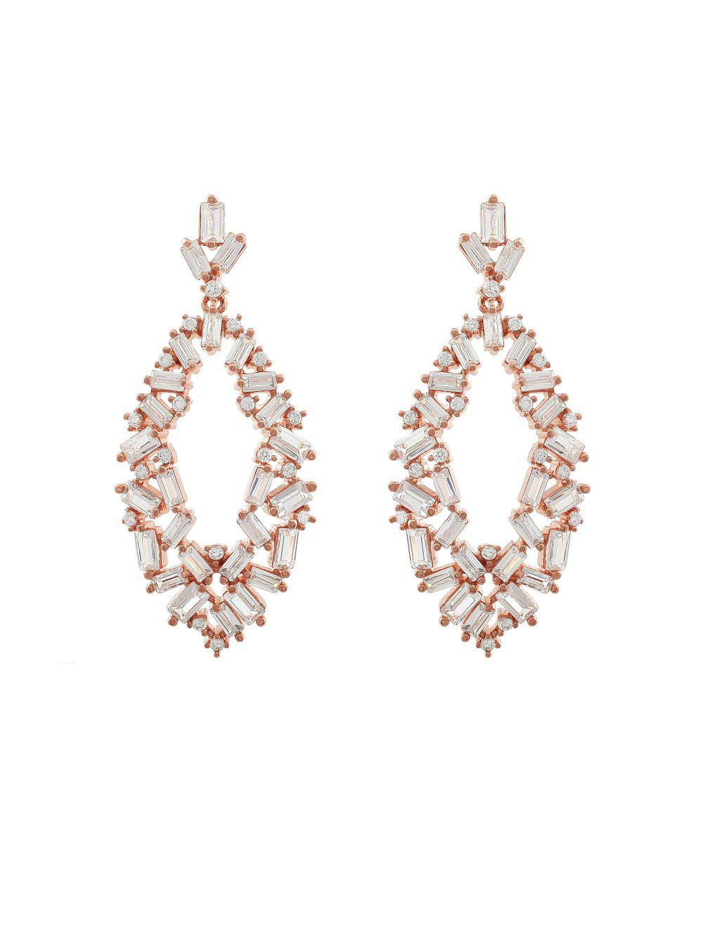 Lyst - Saks Fifth Avenue Jankuo Jewelry Crystal Drop ...
