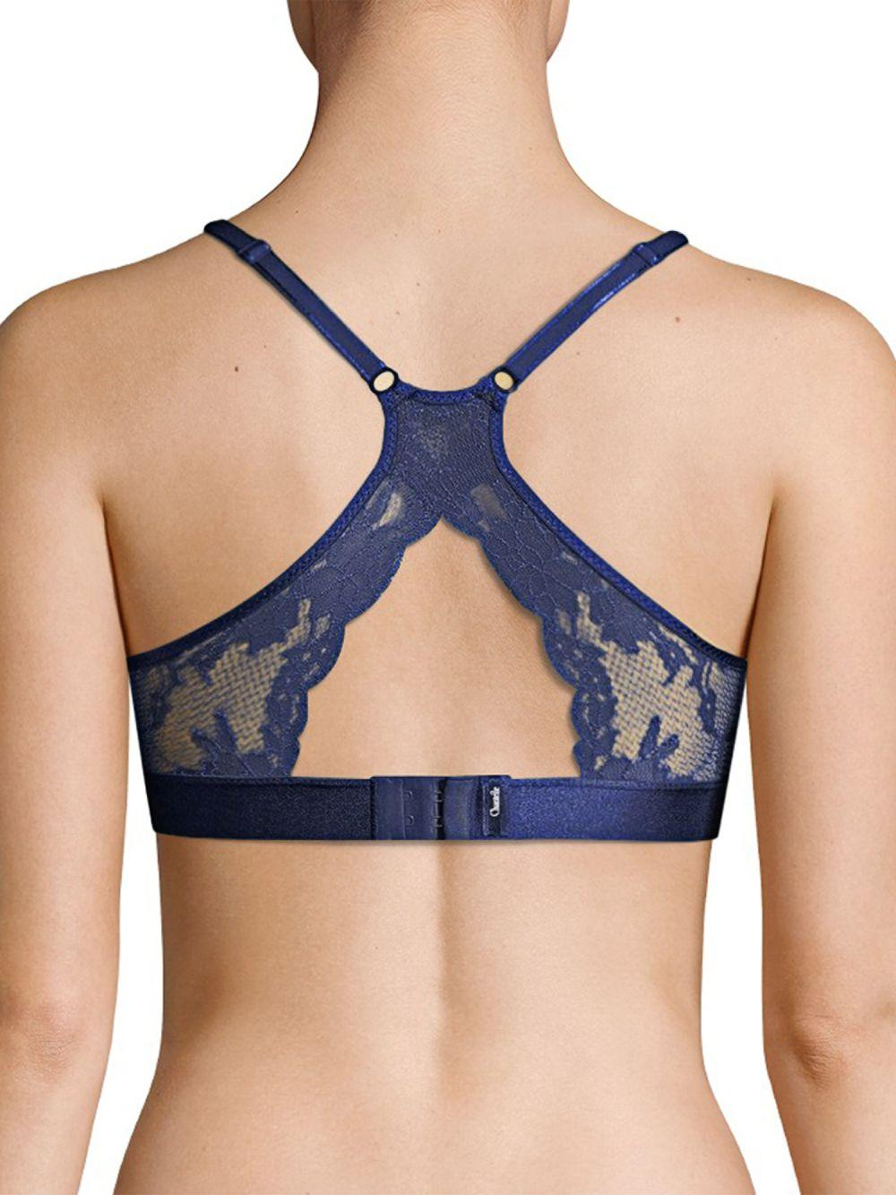 9524b802c7b521 Lyst - Chantelle Everyday Lace Racerback Wireless Bra in Blue - Save 32%