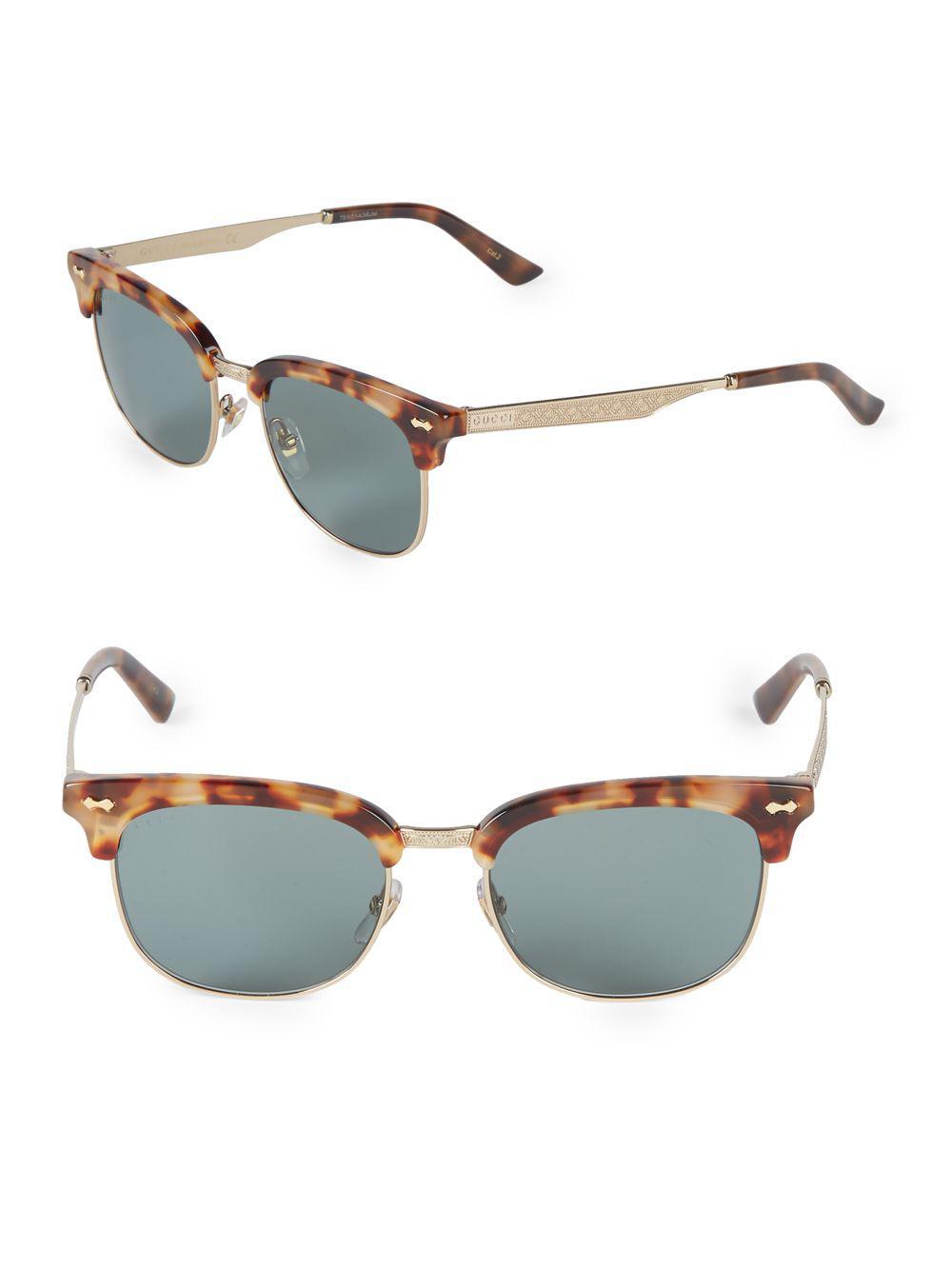 967240756c6 Gucci 54mm Clubmaster Sunglasses in Metallic - Lyst