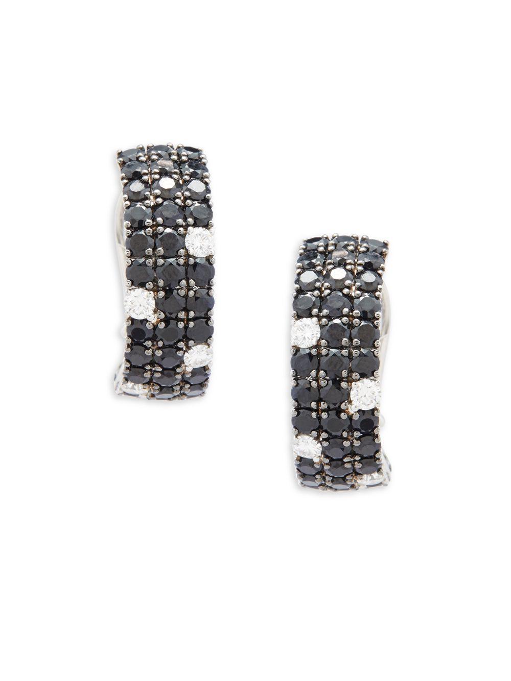 Roberto Coin 18k Meteorite Diamond & Sapphire Stud Earrings YCpU8Qmf5q
