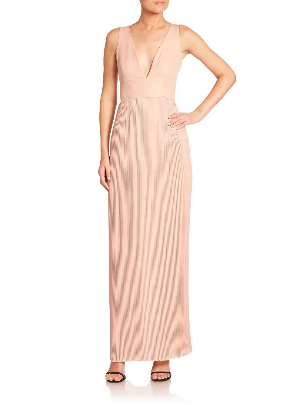 Lyst - Nicholas Accordion Pleated Gown in Pink - Save 44.1025641025641%