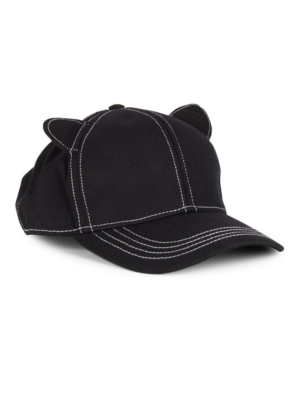 4a40839bf82e1 Karl Lagerfeld Cat Ears Baseball Hat In Black For Men Lyst