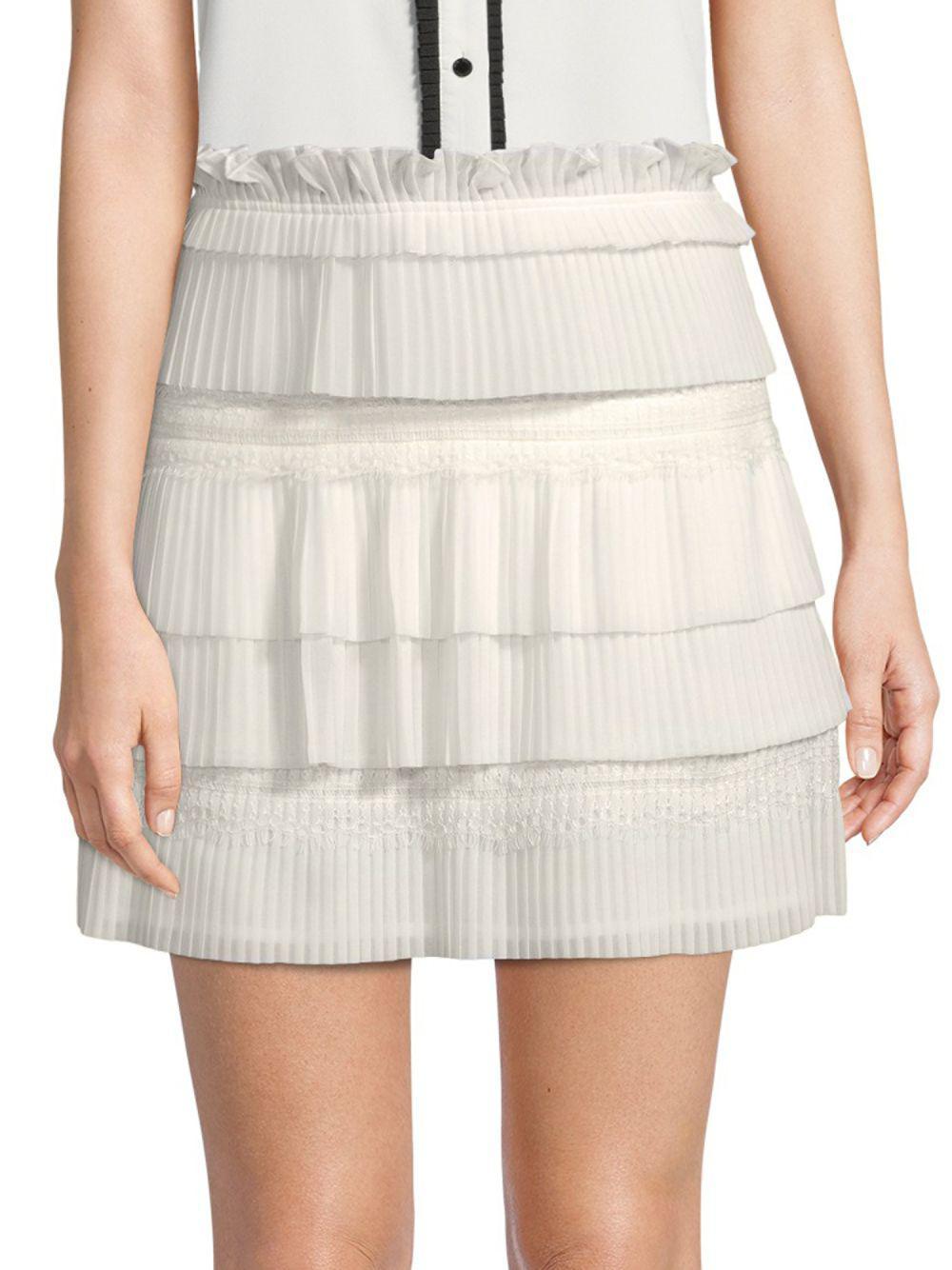 9ae875c7b Lyst - IRO Sevy Mini Skirt in White - Save 44%