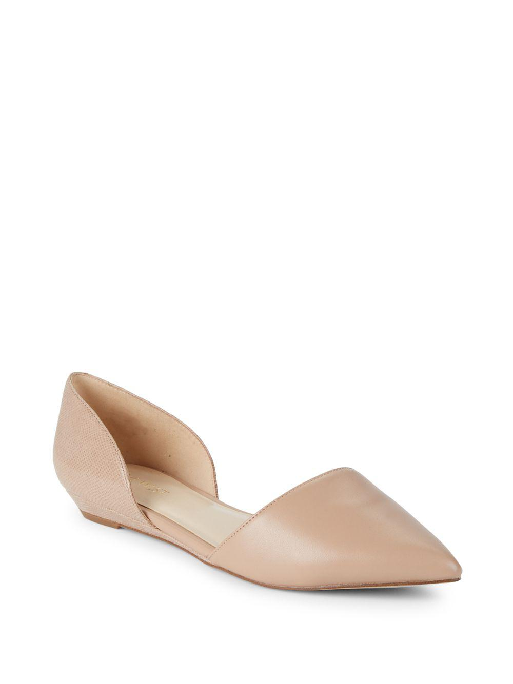 9c210ca1691c Lyst - Nine West Two-piece Point-toe Flats in Natural