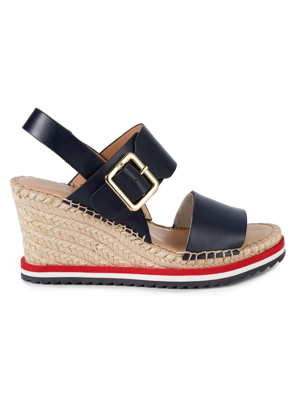 a506b09fb Lyst - Tommy Hilfiger Yazzi Espadrille Wedge Sandal in Blue - Save 17%
