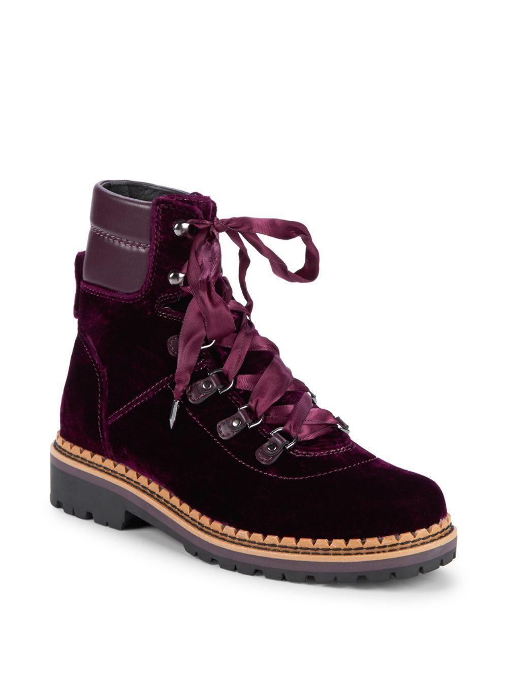 cac54985efbee3 Sam Edelman. Women s Browan Velvet Combat Boots