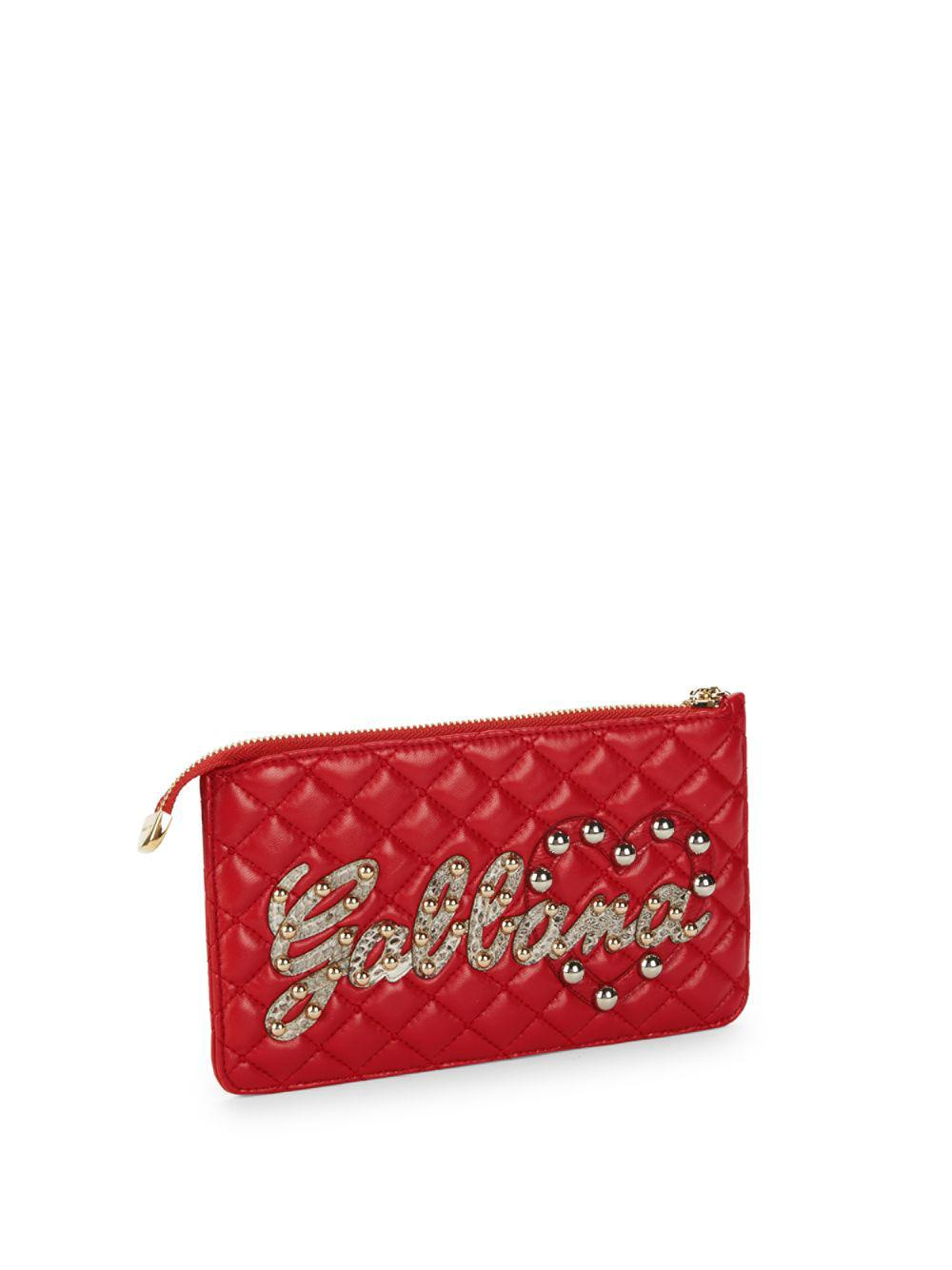 logo studded quilted purse Dolce & Gabbana