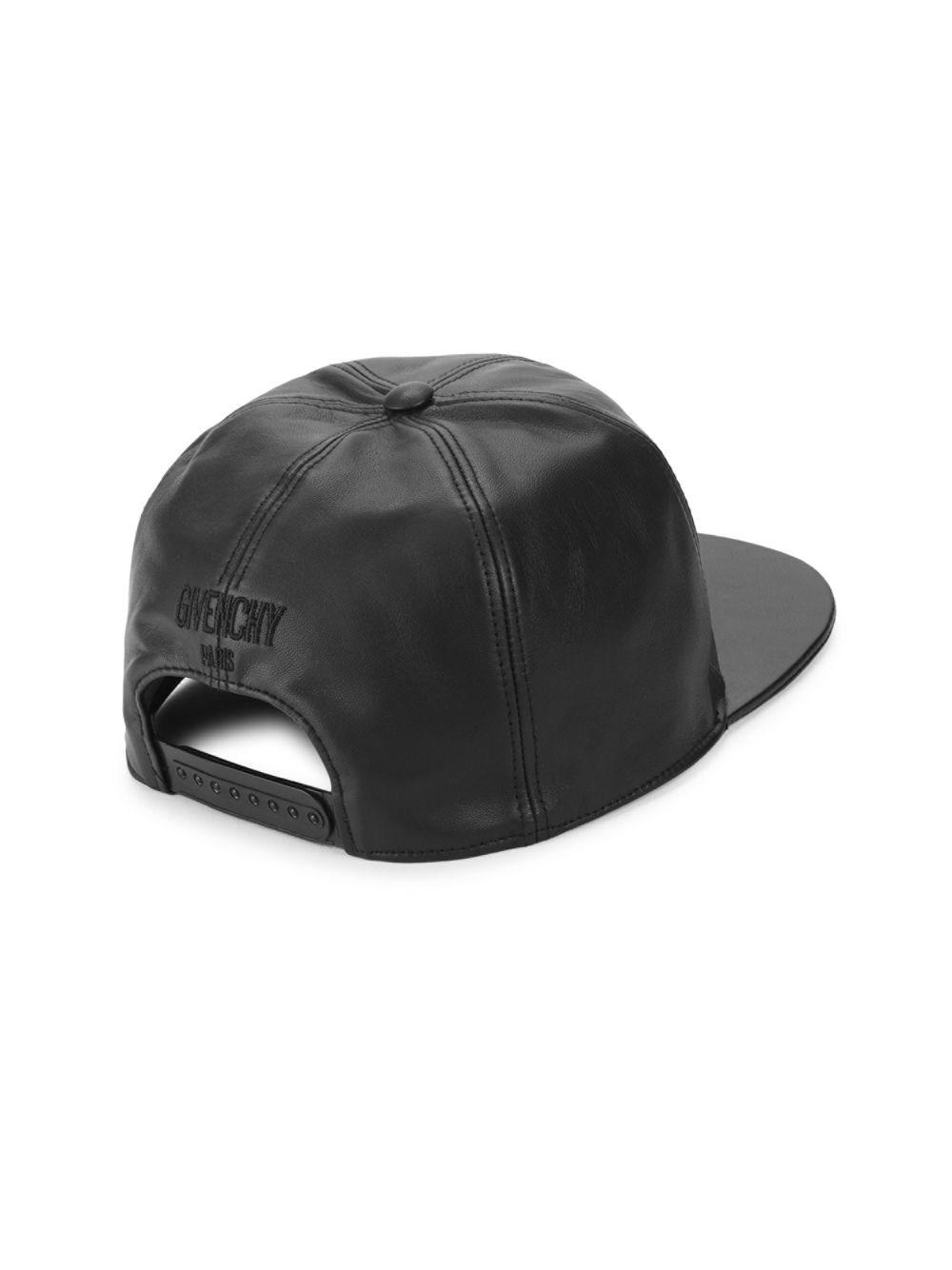 Givenchy Leather Baseball Cap in Black for Men - Lyst a6a34af1f48