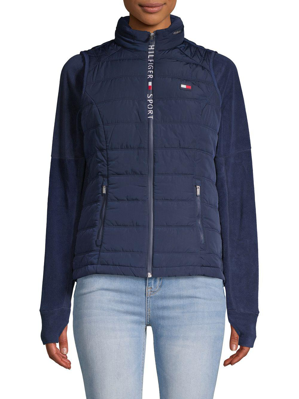 f3beab1f Lyst - Tommy Hilfiger Quilted Puffer Vest in Blue