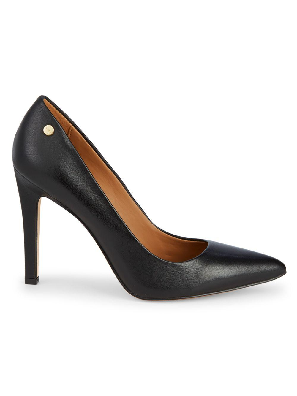 fd57bde2181 Lyst - Calvin Klein Brady Leather High Heel Pumps in Black