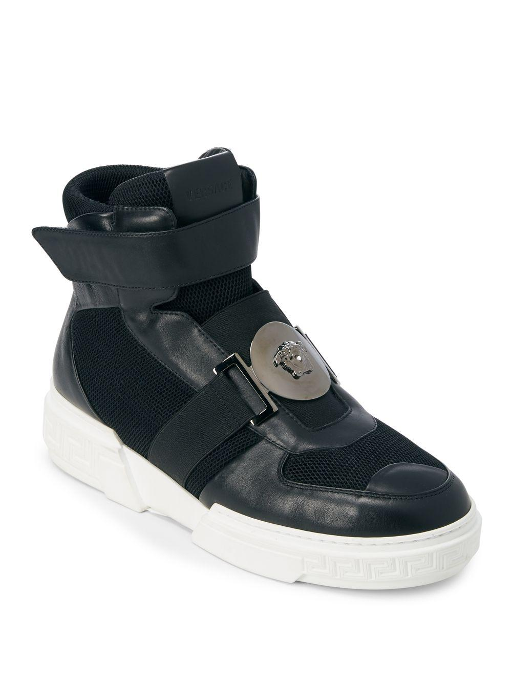 f8dfdee8e Lyst - Versace Medusa Plaque High-top Sneakers in Black for Men